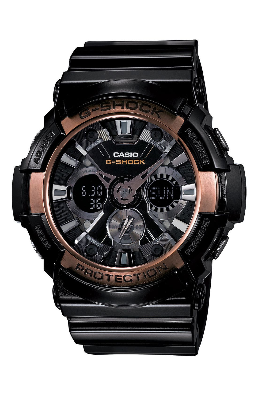 Alternate Image 1 Selected - G-Shock 'X-Large' Dual Movement Watch, 55mm