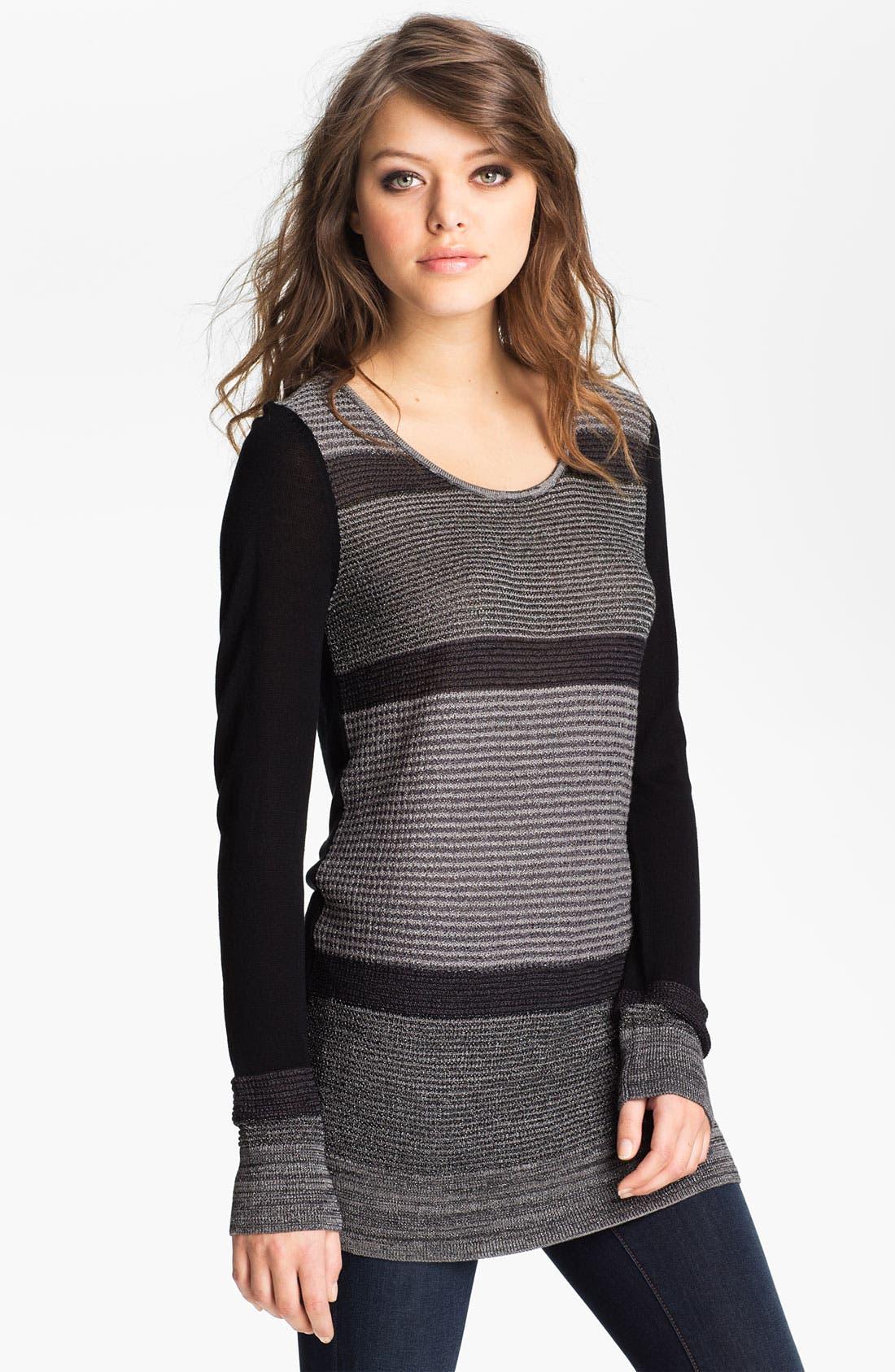 Alternate Image 1 Selected - Hinge® Metallic Stripe Sweater