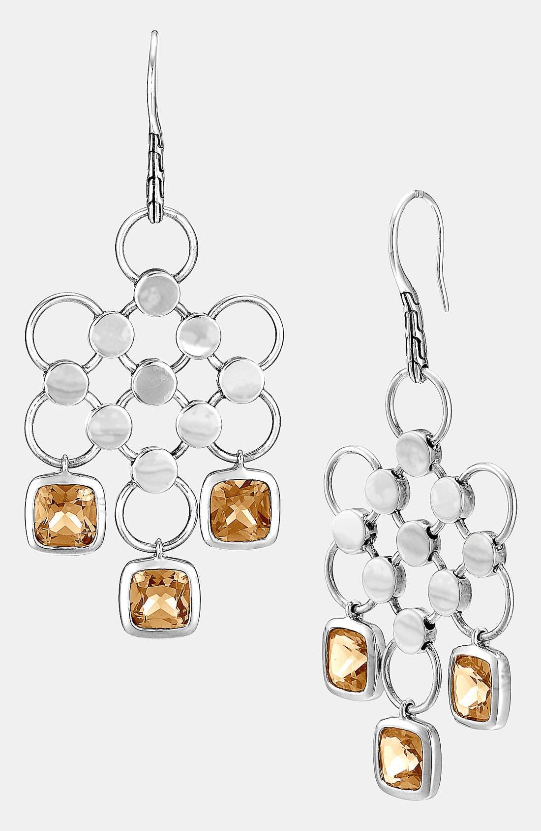 Alternate Image 1 Selected - John Hardy 'Batu Dot' Cognac Quartz Chandelier Earrings