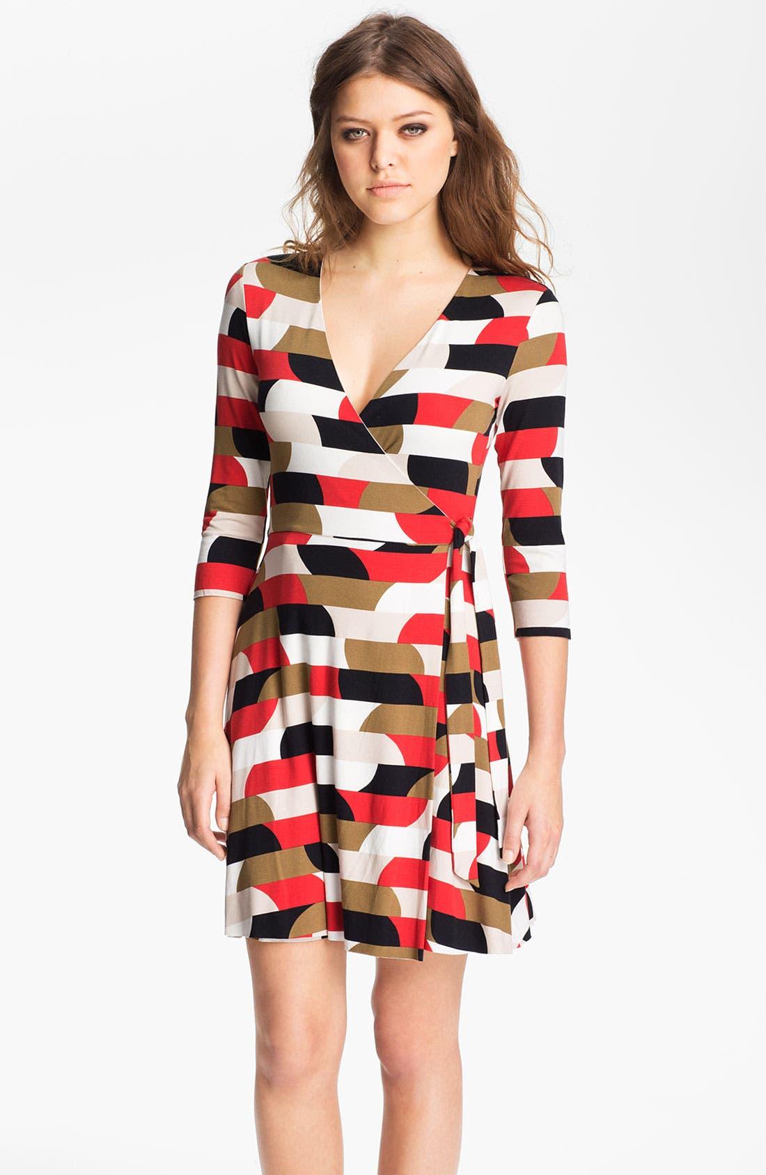 Alternate Image 1 Selected - B44 Dressed by Bailey 44 Geometric Stripe Jersey Surplice Dress