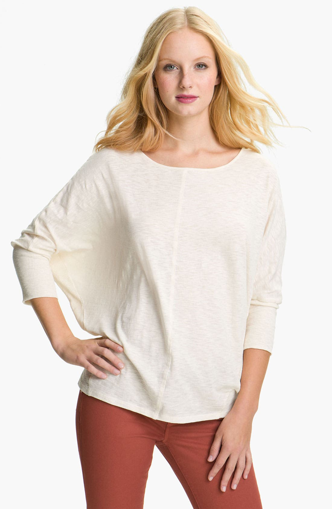 Alternate Image 1 Selected - Two by Vince Camuto Dolman Sleeve Top (Petite)
