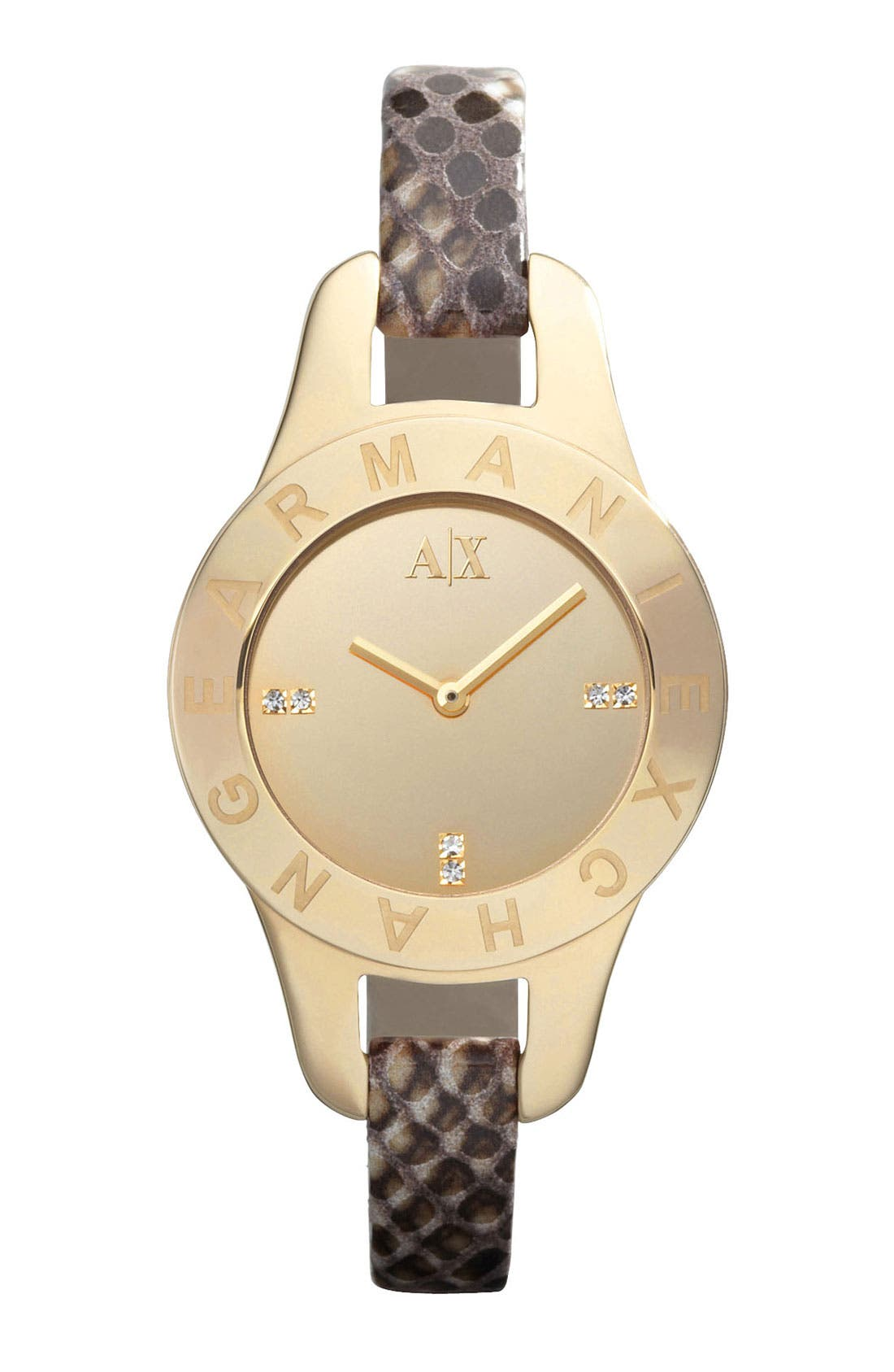 Main Image - AX Armani Exchange Mirror Dial Watch, 30mm (Online Only)