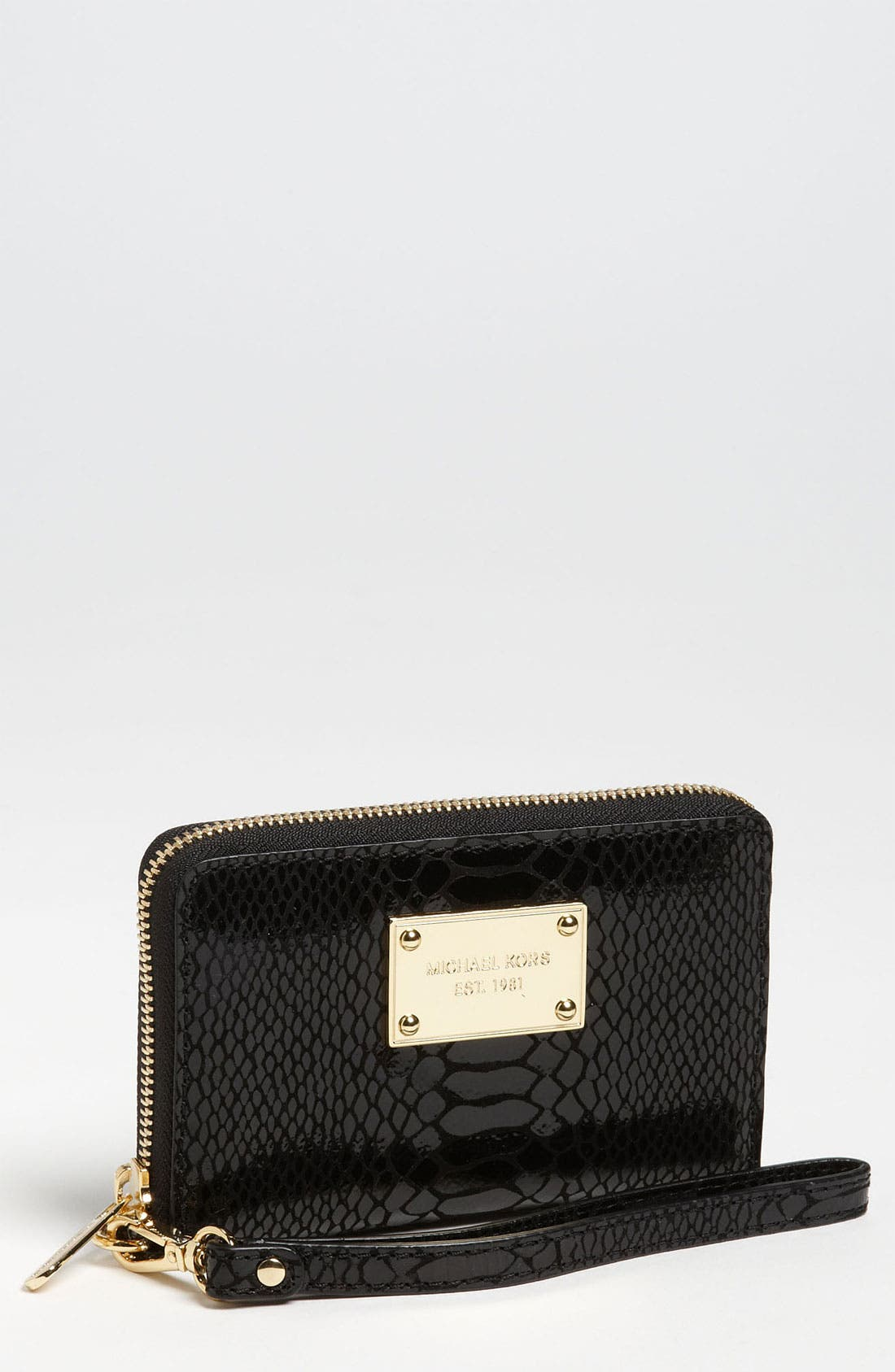 Alternate Image 1 Selected - MICHAEL Michael Kors Python Embossed iPhone Wristlet