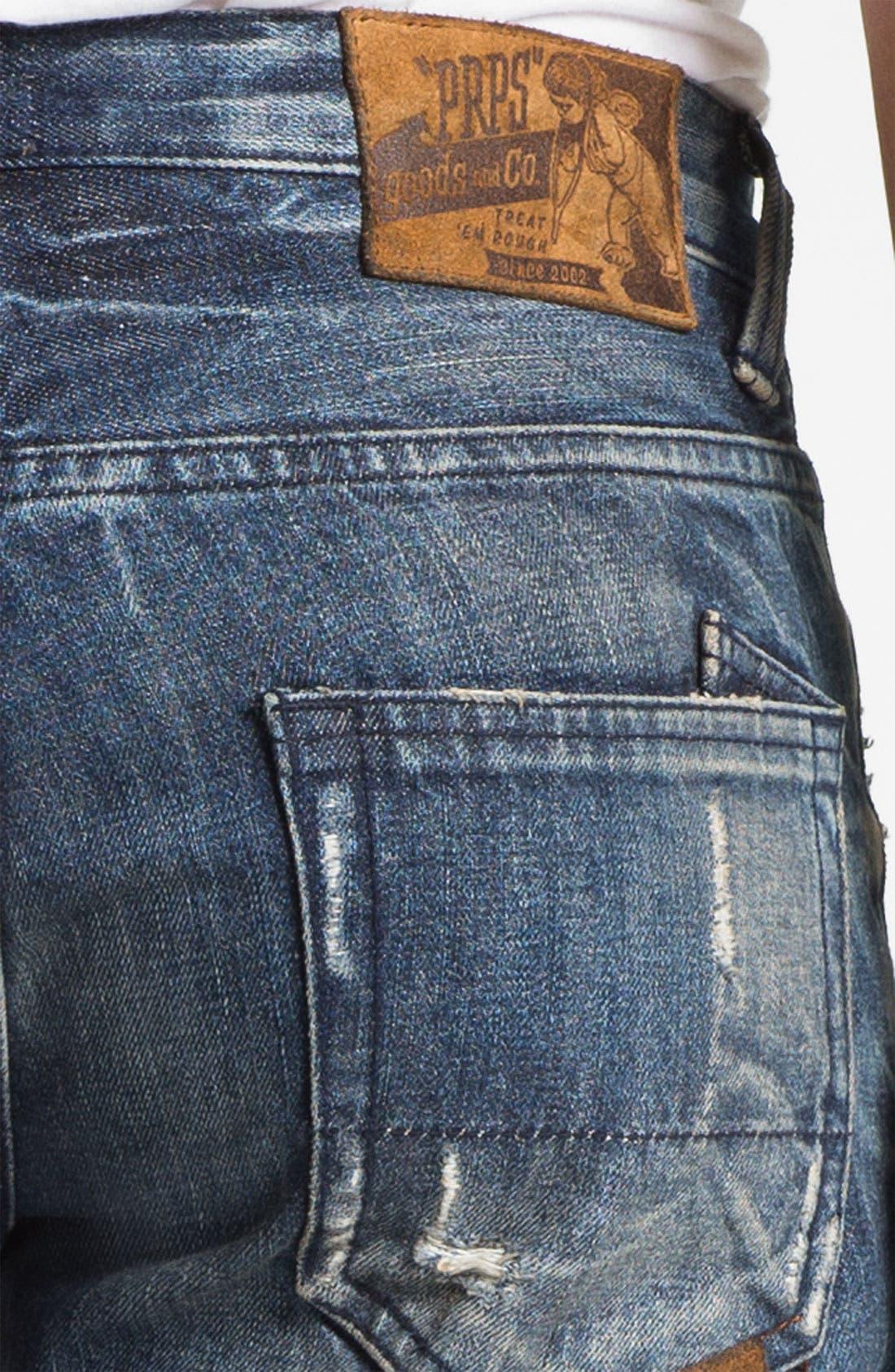 Alternate Image 4  - PRPS 'Tibetan Ladder Rambler' Slim Straight Leg Jeans (Indigo)