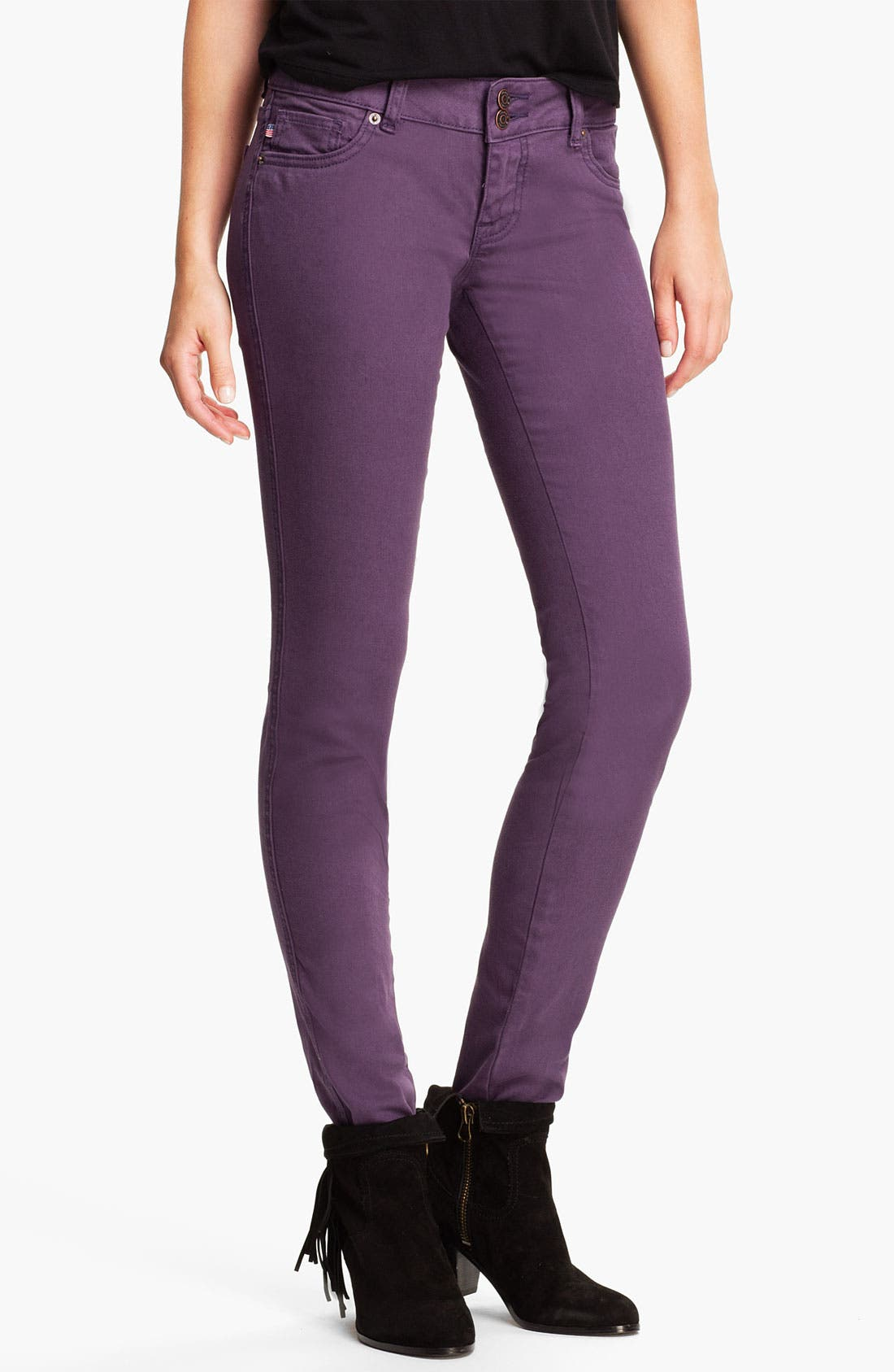 Alternate Image 2  - Vigoss Color Skinny Jeans (Juniors)