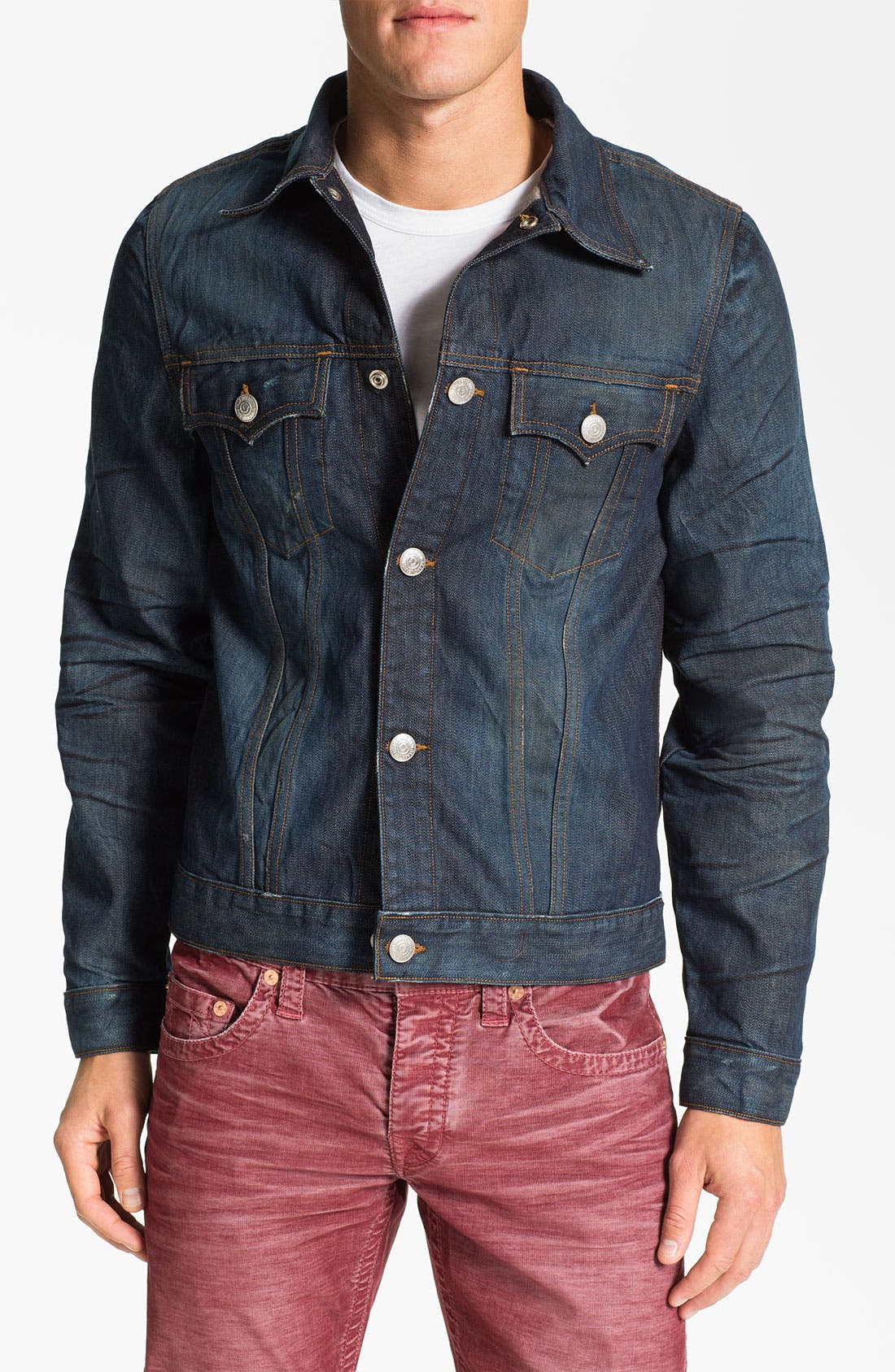 Alternate Image 1 Selected - True Religion Brand Jeans '1971 Jimmy Western Trucker' Denim Jacket