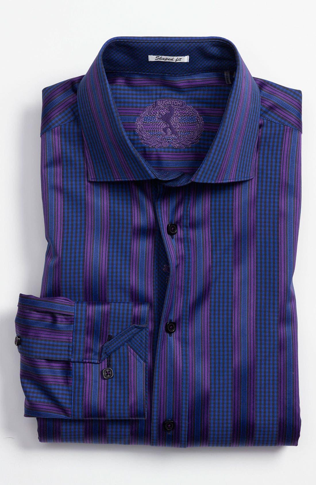 Alternate Image 2  - Bugatchi Uomo Shaped Fit Sport Shirt