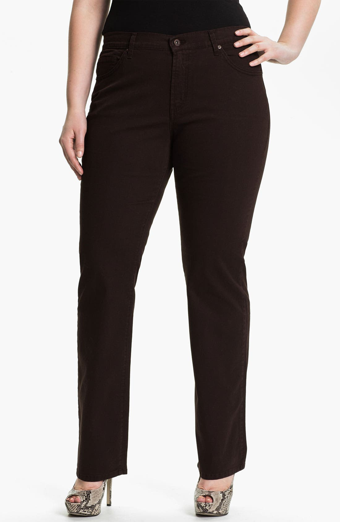 Main Image - James Jeans High Rise Straight Leg Jeans (Plus)