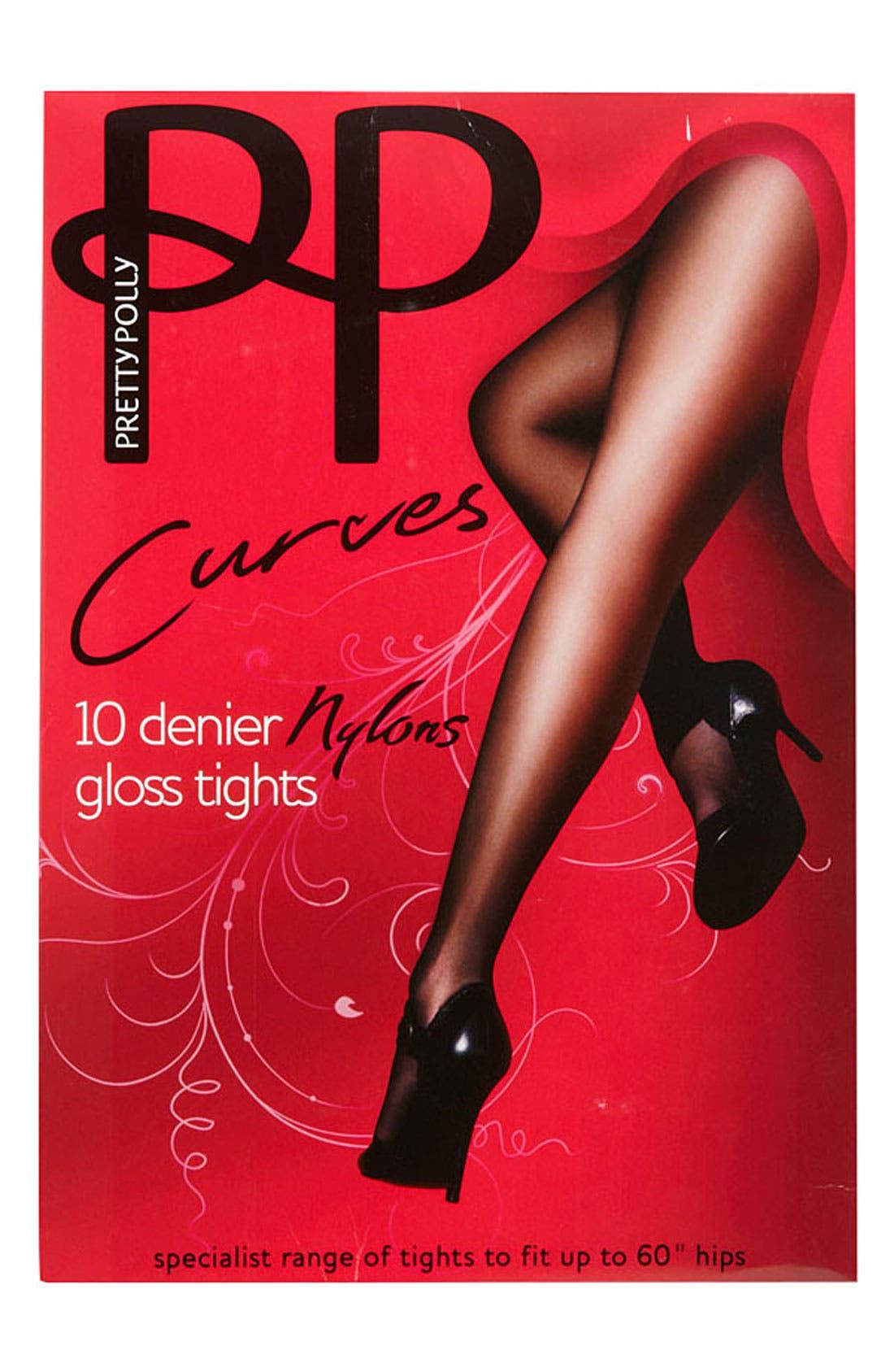 Alternate Image 3  - Pretty Polly 'Curves' 10 Denier Tights (Plus Size)