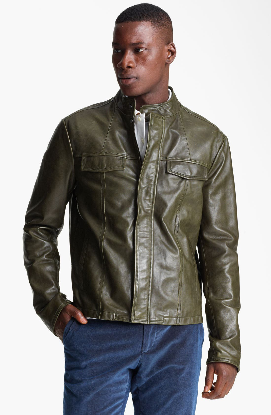 Alternate Image 1 Selected - Etro Leather Moto Jacket