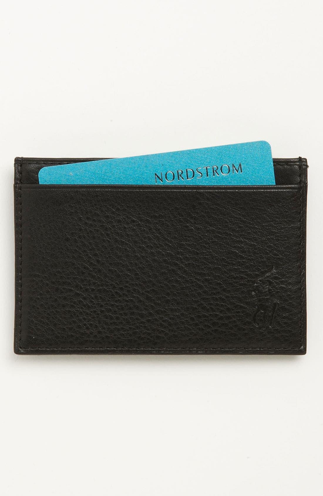Slim Card Case,                         Main,                         color, Black