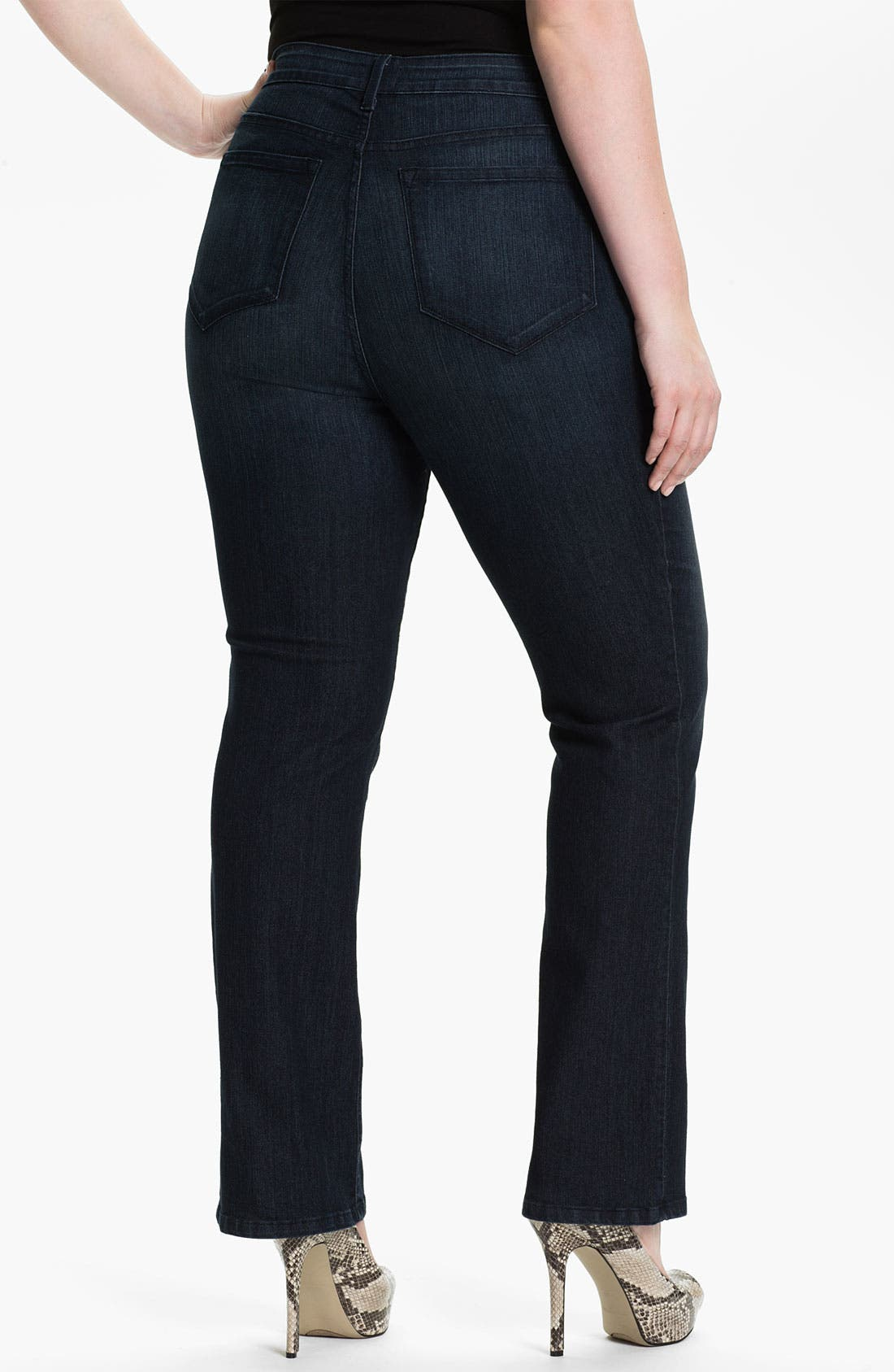 Alternate Image 2  - NYDJ 'Marilyn' Straight Leg Stretch Denim Jeans (Plus)
