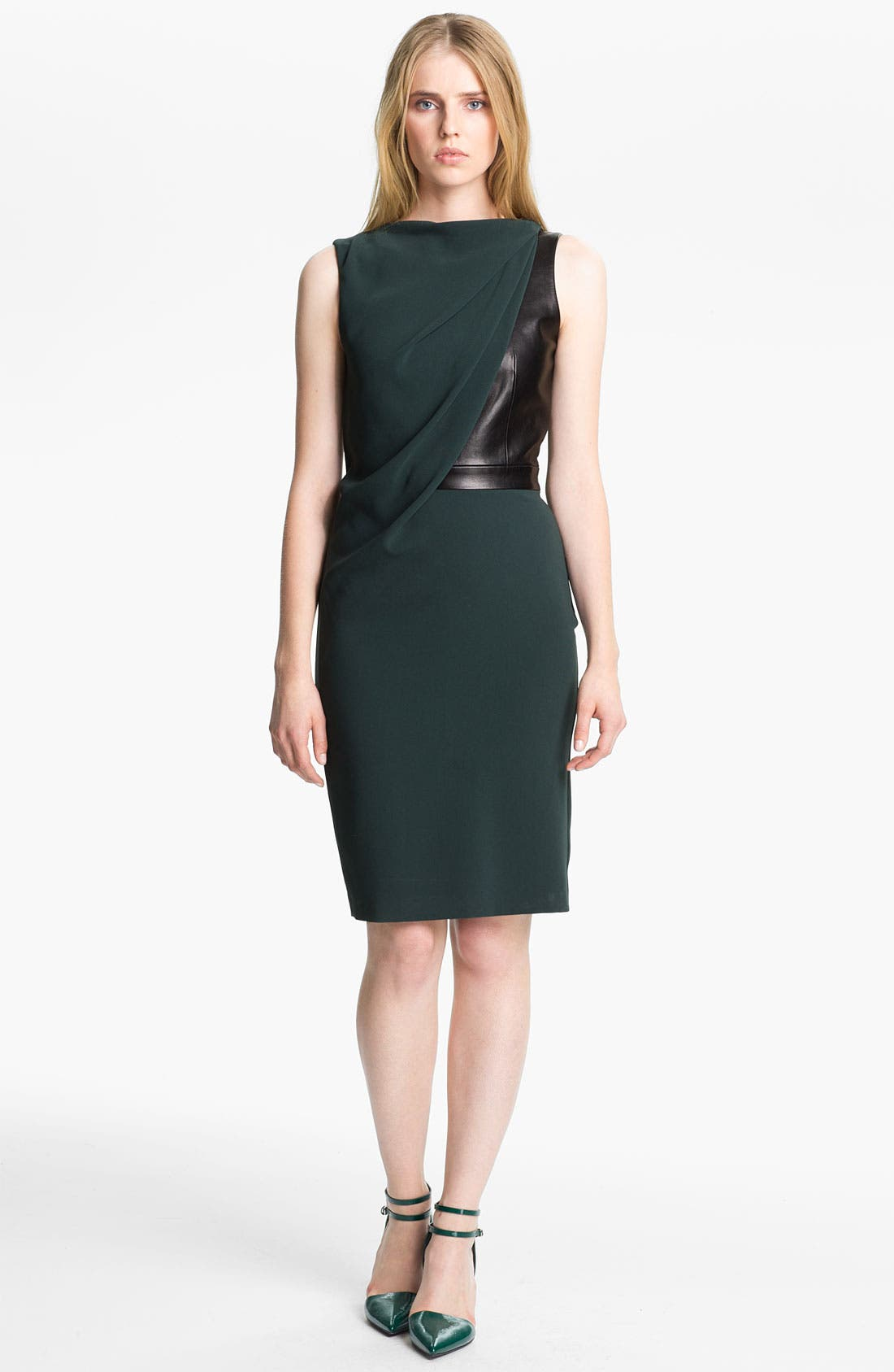 Alternate Image 1 Selected - Alexander Wang Crepe & Leather Dress