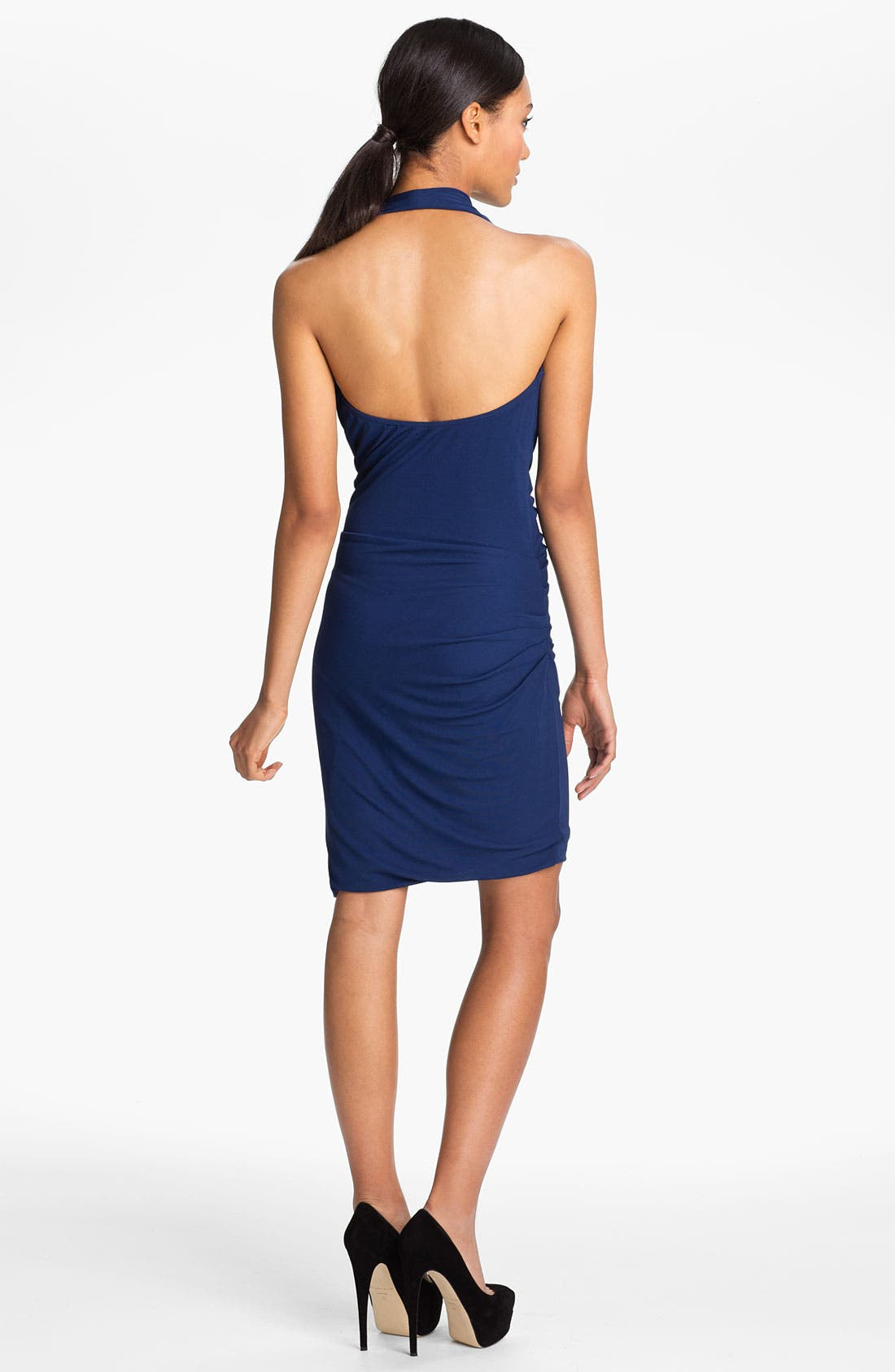 Alternate Image 2  - Halston Heritage Draped Matte Jersey Halter Dress
