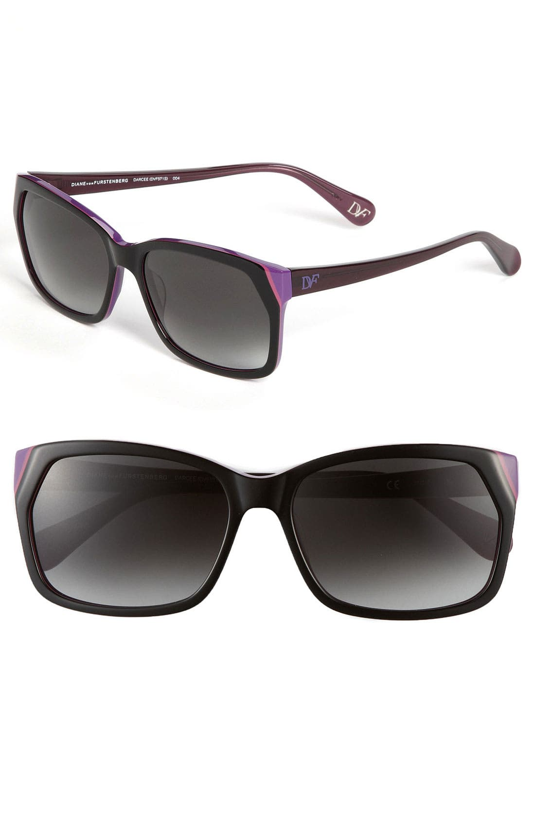 Alternate Image 1 Selected - Diane von Furstenberg 'Basic' Sunglasses