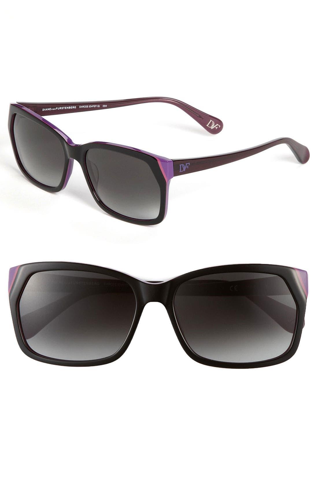 Main Image - Diane von Furstenberg 'Basic' Sunglasses