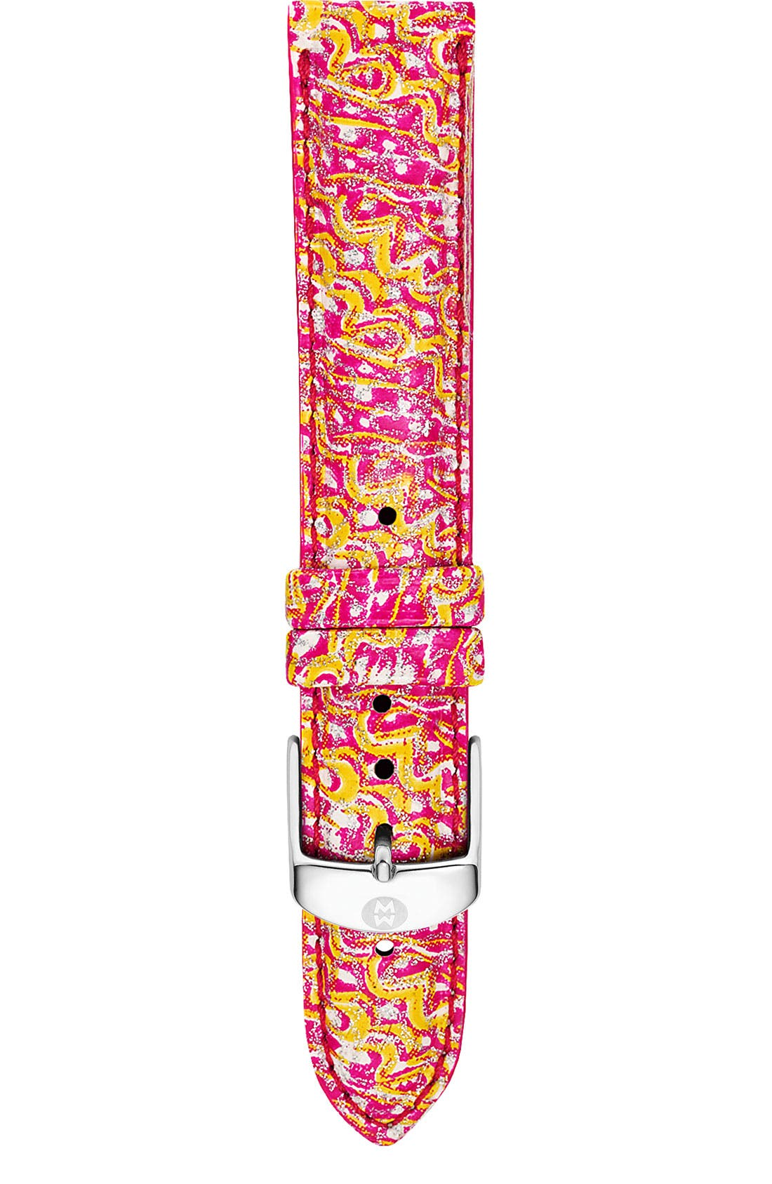 Main Image - MICHELE 18mm Patent Leather Watch Strap