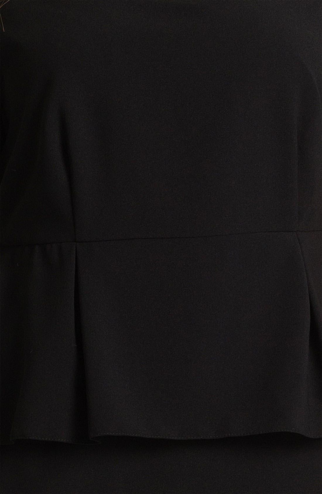 Alternate Image 3  - Evans 'Debra' Peplum Dress (Plus Size)