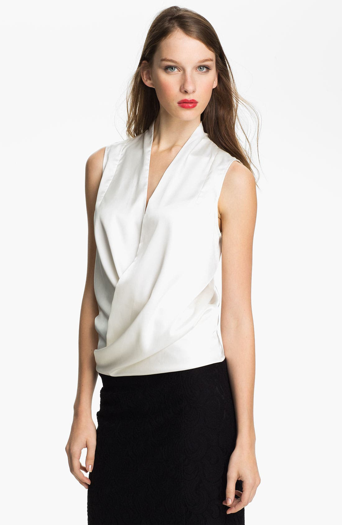 Alternate Image 1 Selected - Vince Camuto Sleeveless Wrap Blouse