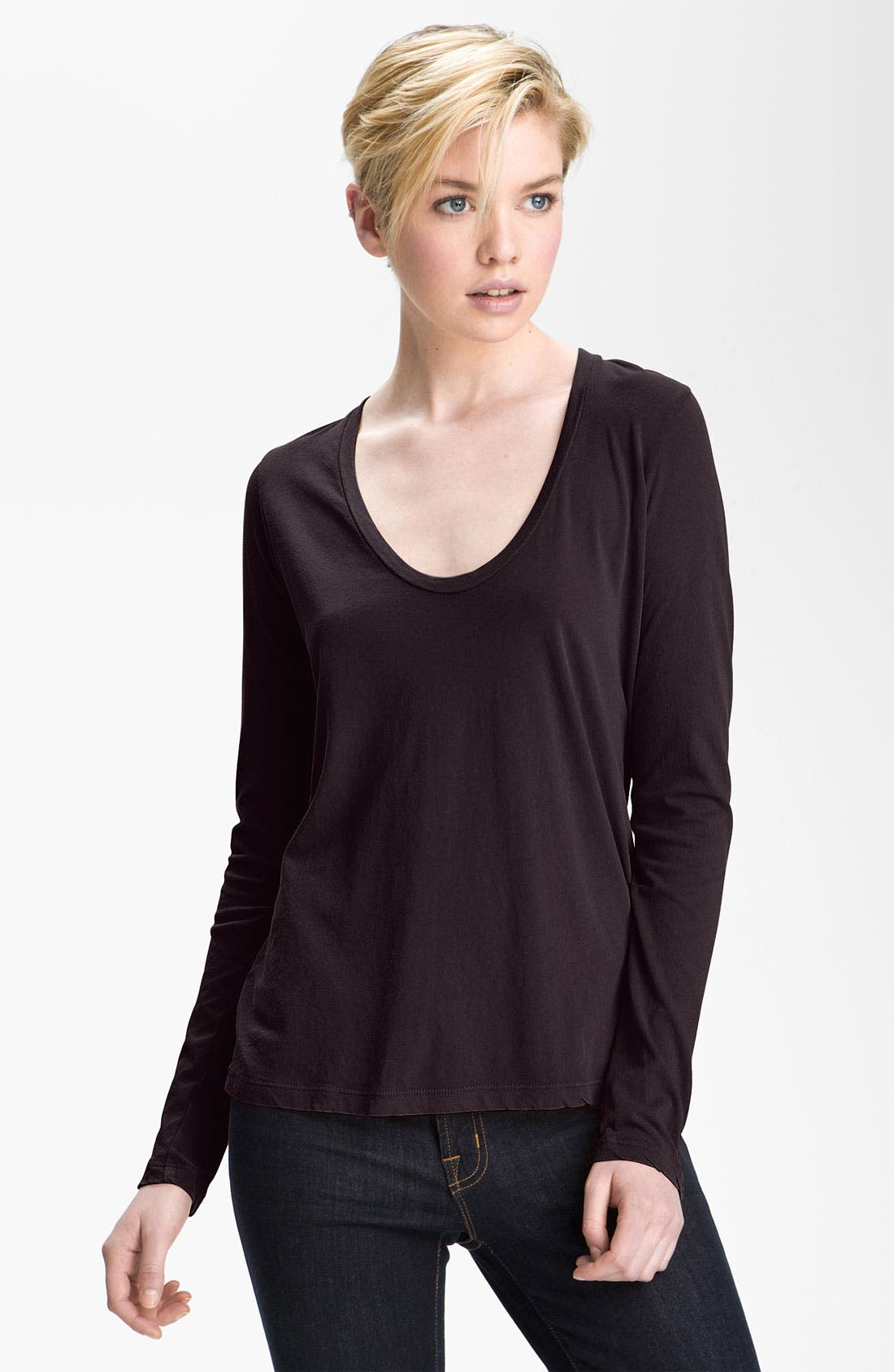 Alternate Image 1 Selected - James Perse Scoop Neck Tee