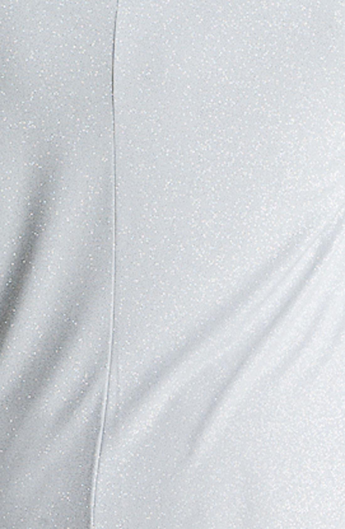 Alternate Image 3  - Eliza J Drape Neck Mock Two Piece Dress (Plus)