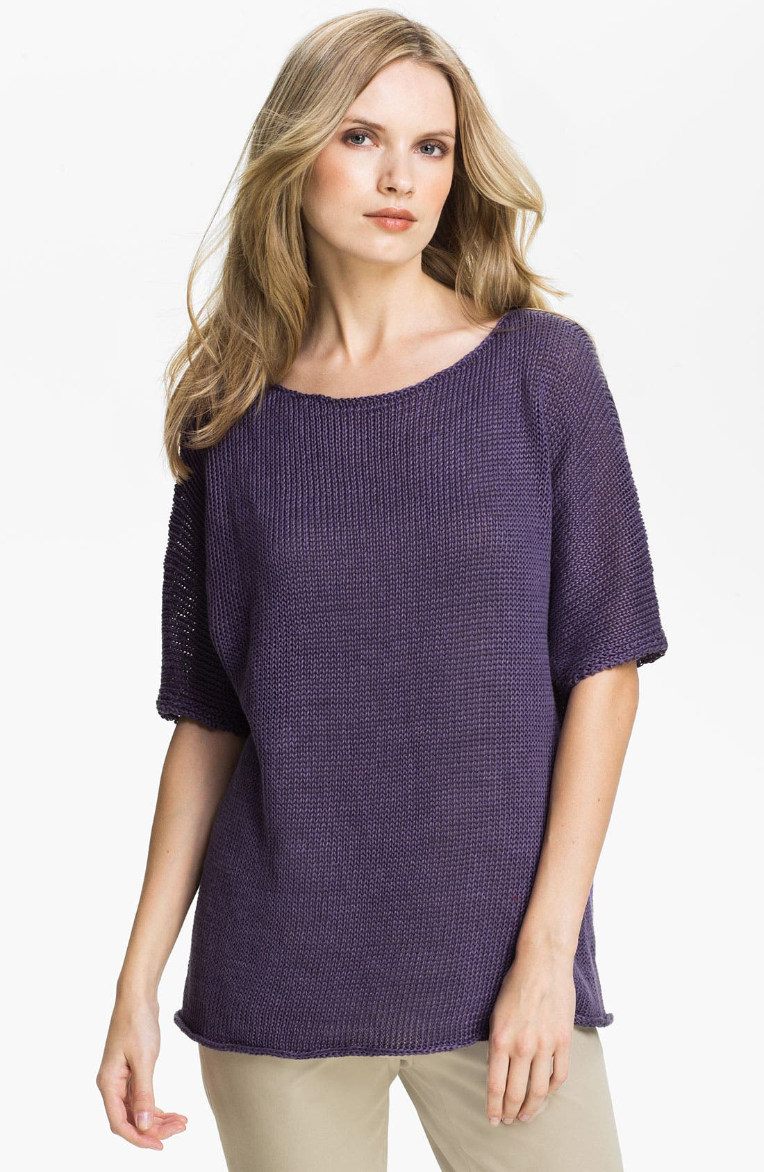 Alternate Image 1 Selected - Lafayette 148 New York Elbow Sleeve Dolman Sweater