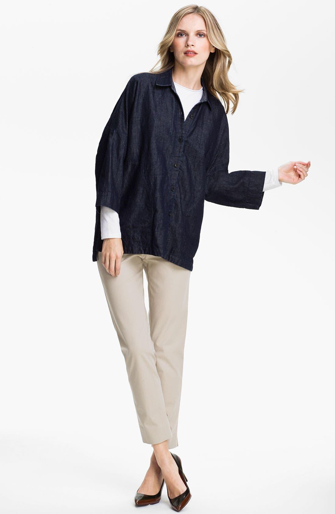 Alternate Image 4  - Lafayette 148 New York 'Bleecker' Polished Twill Pants