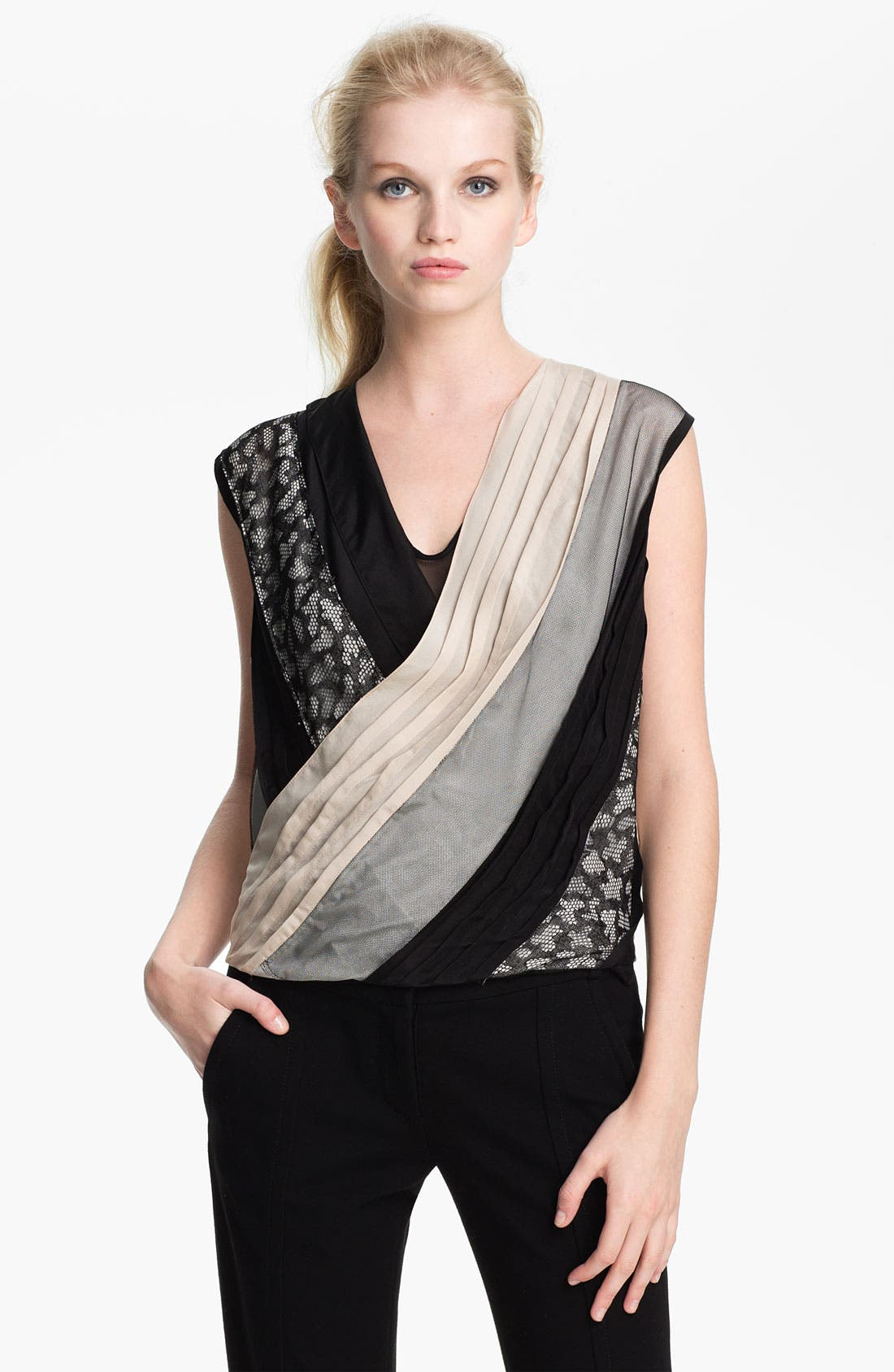 Alternate Image 1 Selected - Diane von Furstenberg 'Talitha' Faux Wrap Top