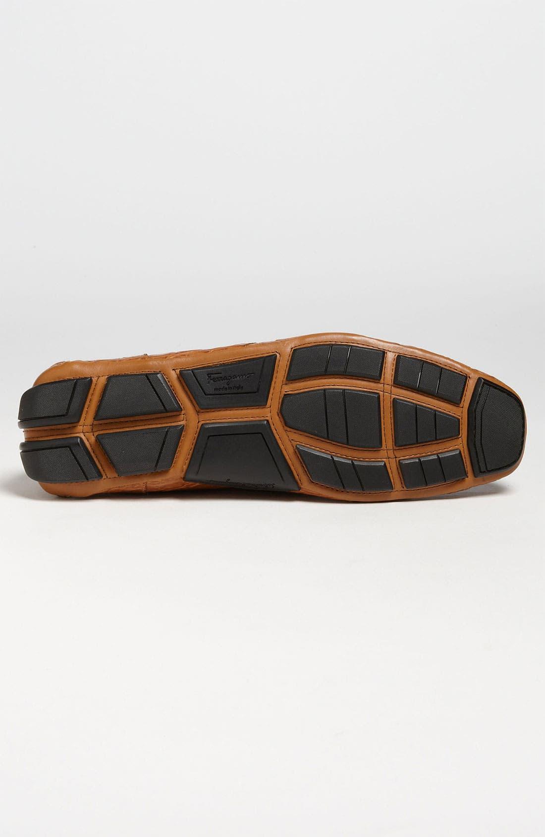 Alternate Image 4  - Salvatore Ferragamo 'Parigi' Crocodile Driving Shoe