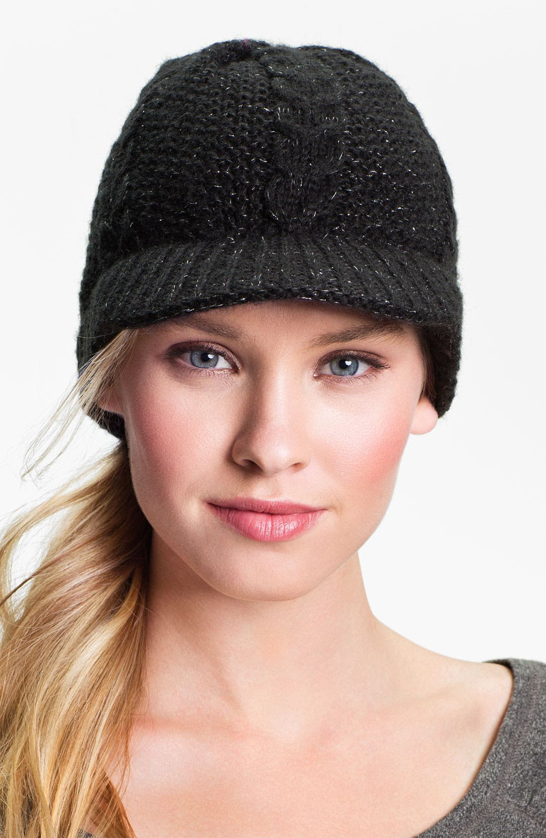 Alternate Image 1 Selected - Zella Cable Knit Beanie
