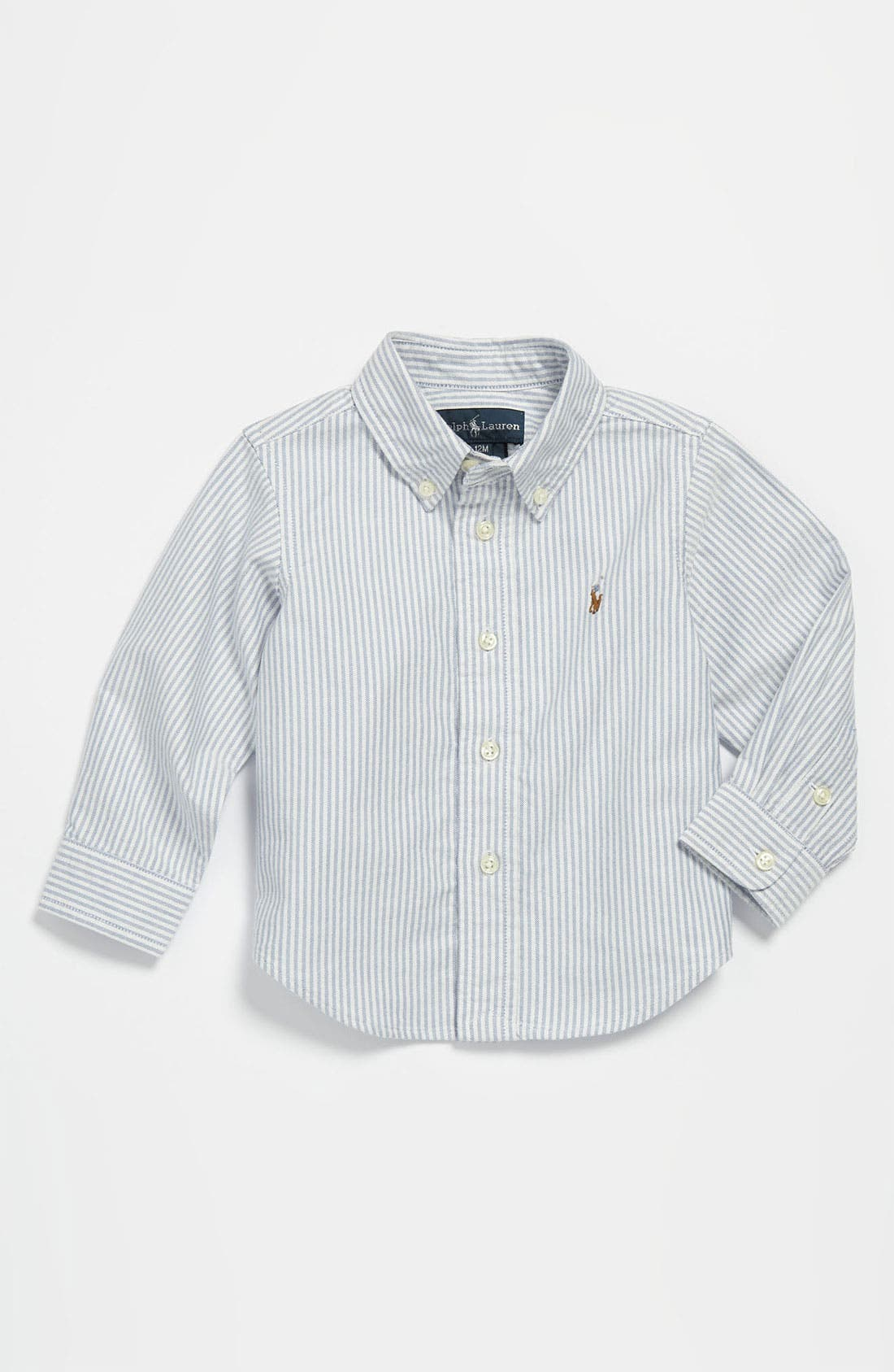 Alternate Image 1 Selected - Ralph Lauren Woven Shirt (Baby)