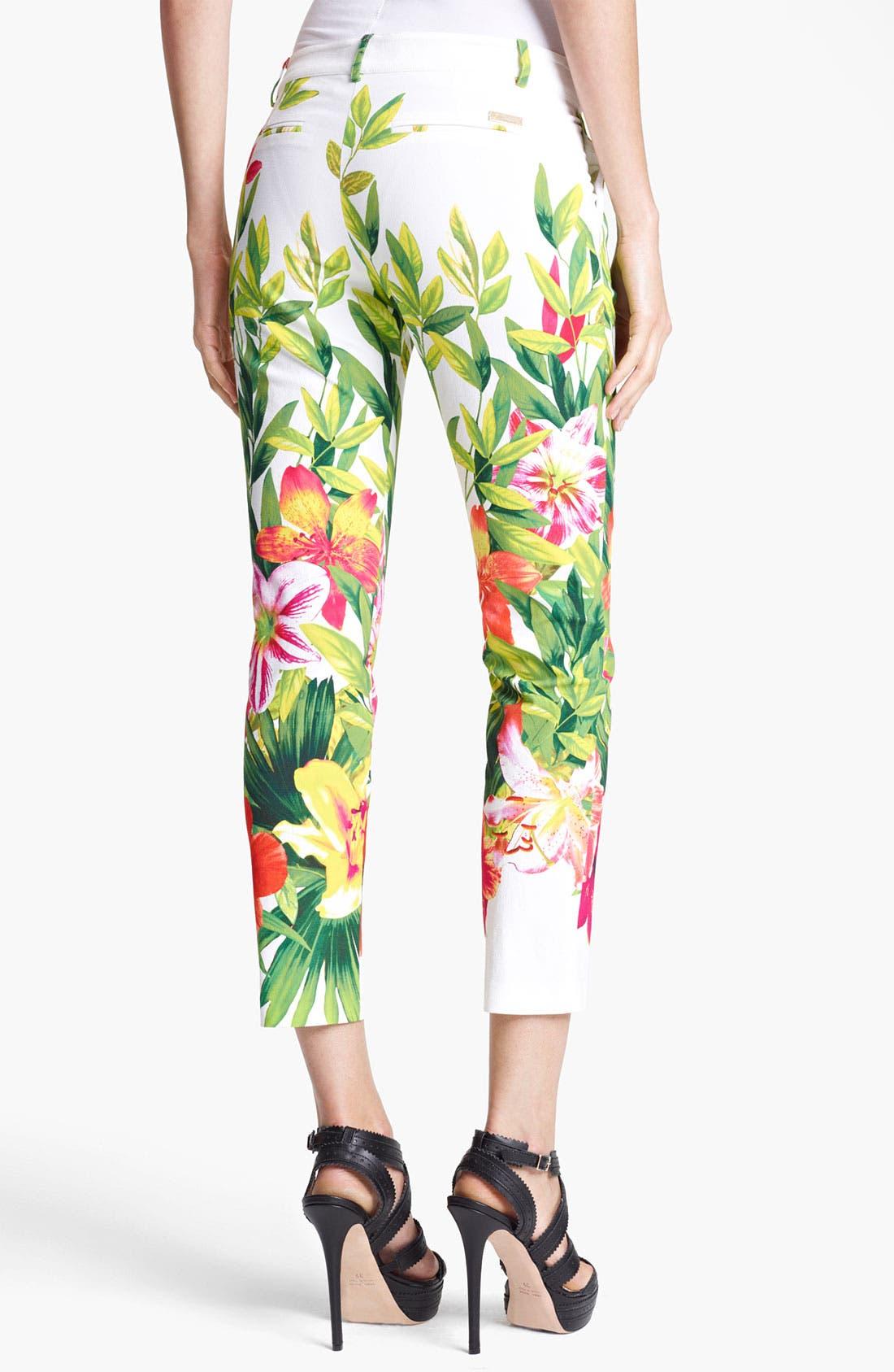 Alternate Image 2  - Blumarine Floral Print Stretch Capri Pants