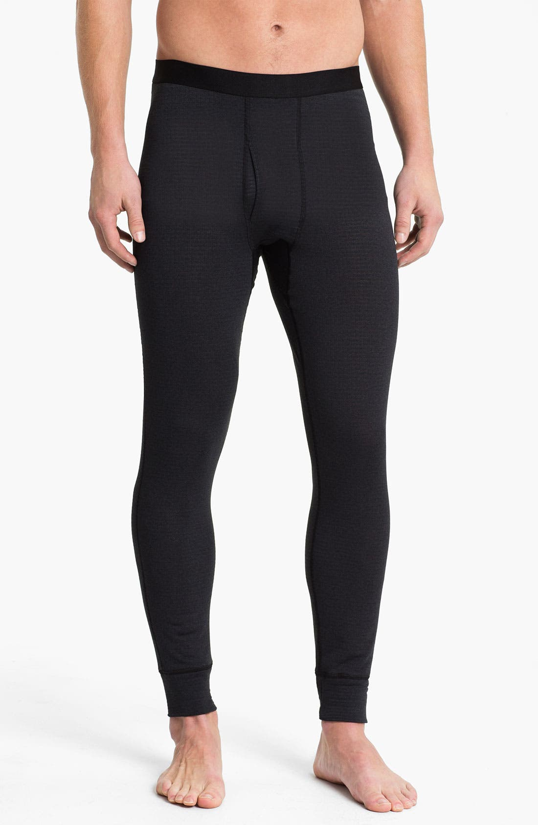 'Capilene<sup>®</sup> 4' Expedition Weight Base Layer Pants,                         Main,                         color, Black