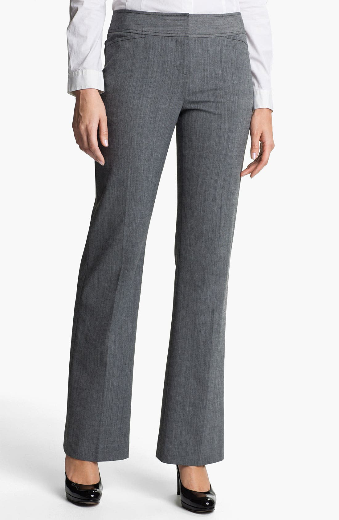 Alternate Image 1 Selected - Halogen® 'Taylor' Cross Dye Curvy Fit Pants