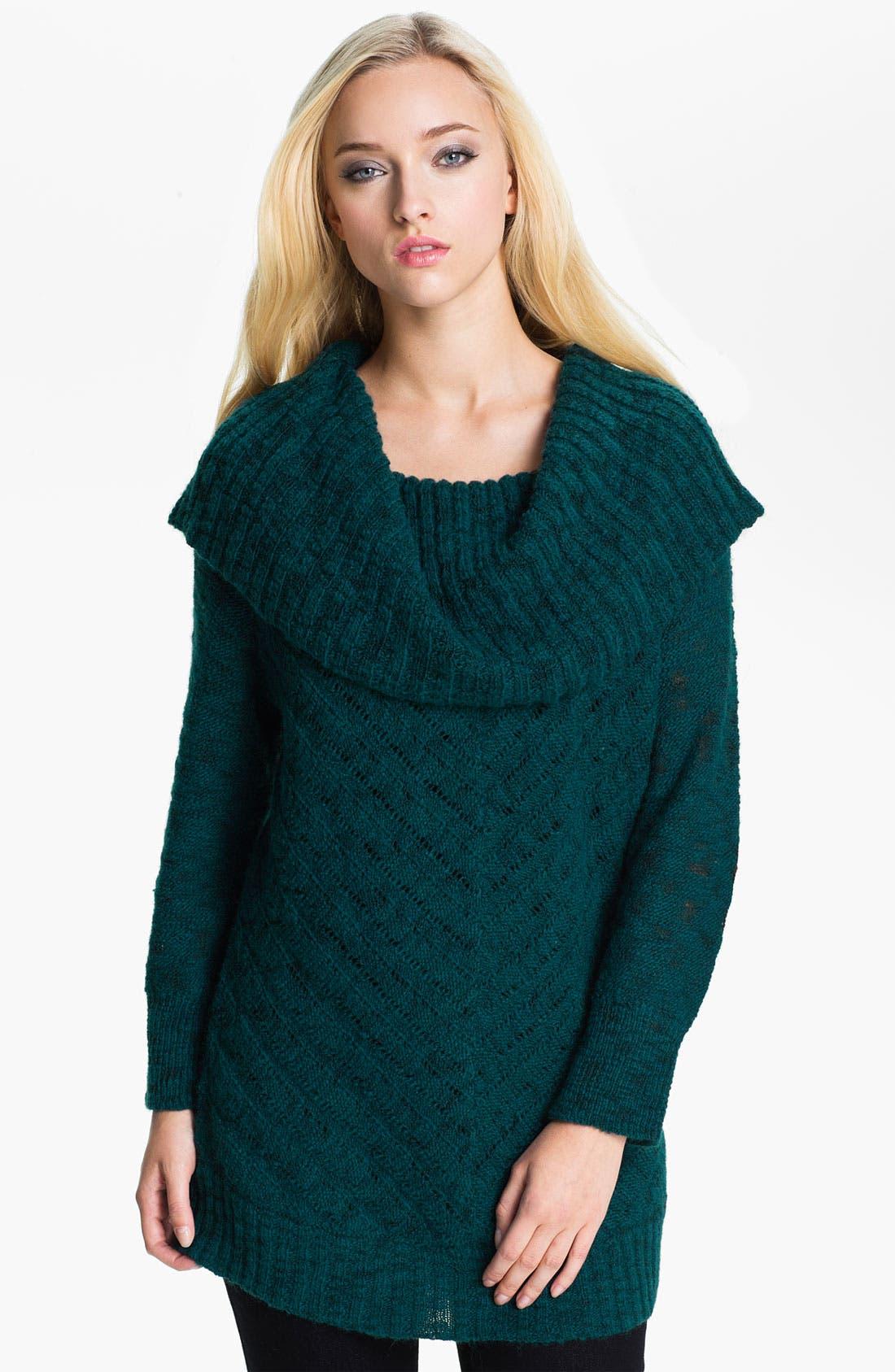 Main Image - Holistia 'Carioca Flame' Cowl Neck Sweater