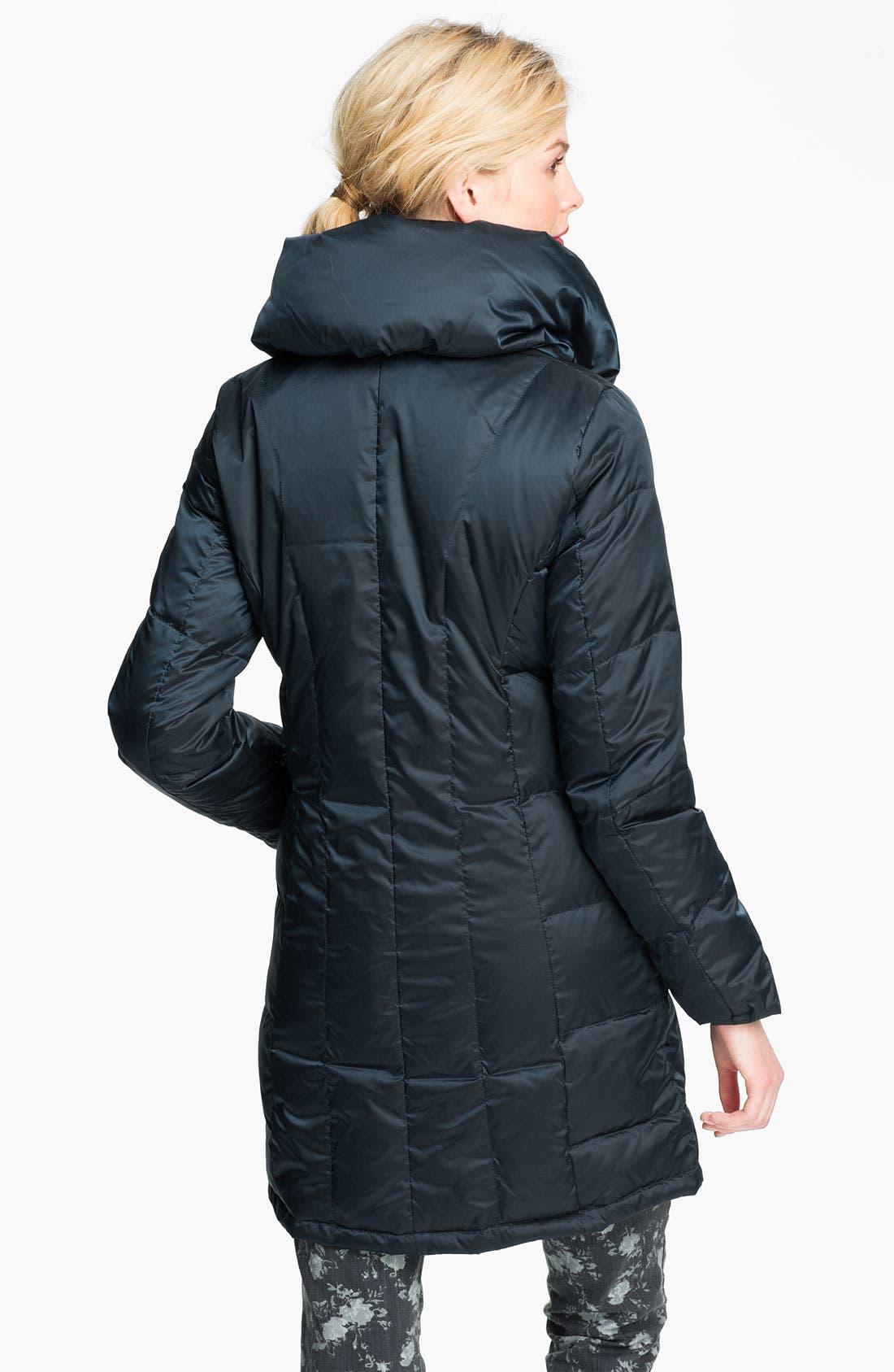 Alternate Image 2  - Ellen Tracy Pillow Collar Down Coat (Online Exclusive)