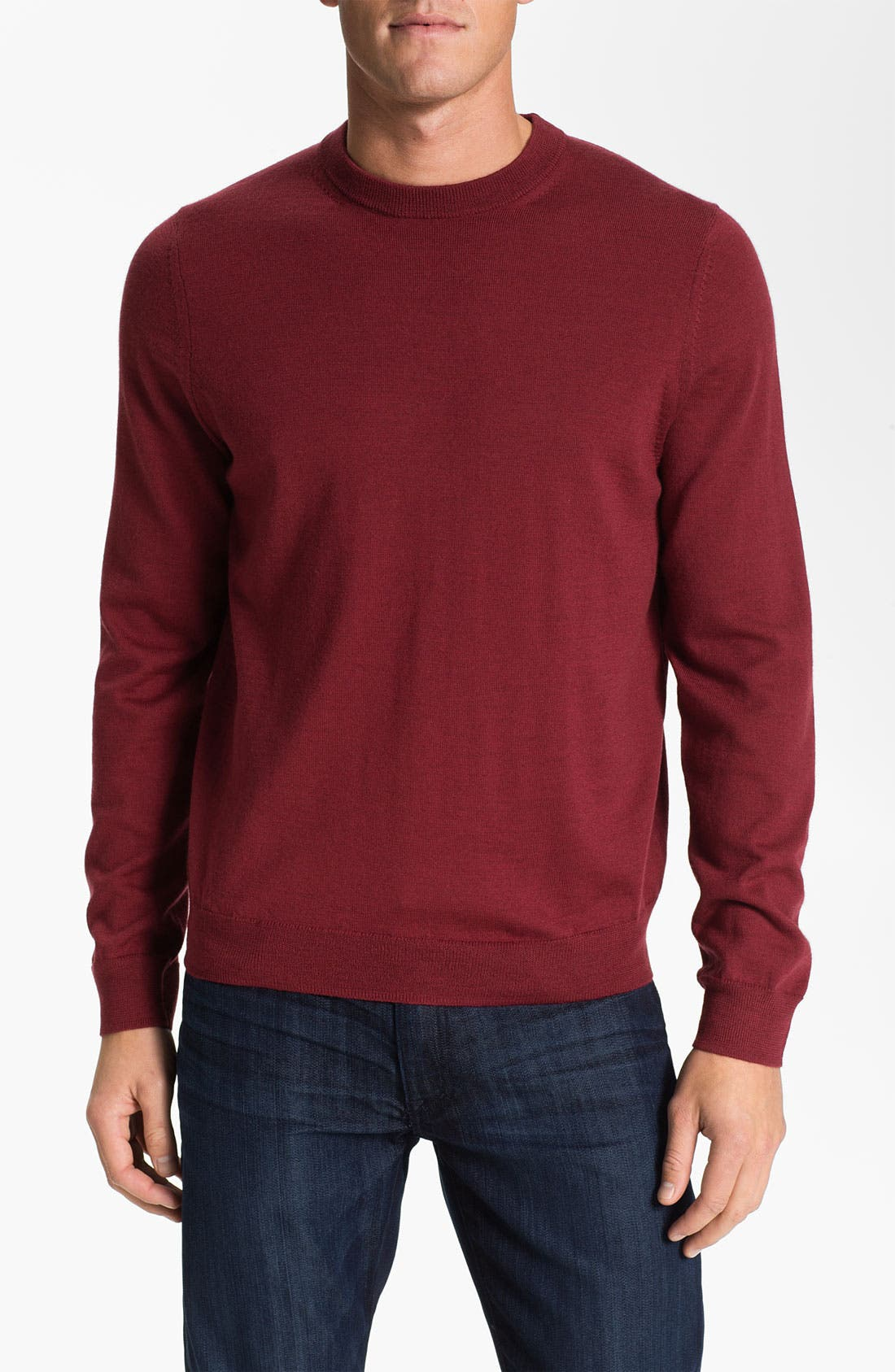 Alternate Image 1 Selected - Nordstrom Traditional Fit Merino Wool Crewneck Sweater