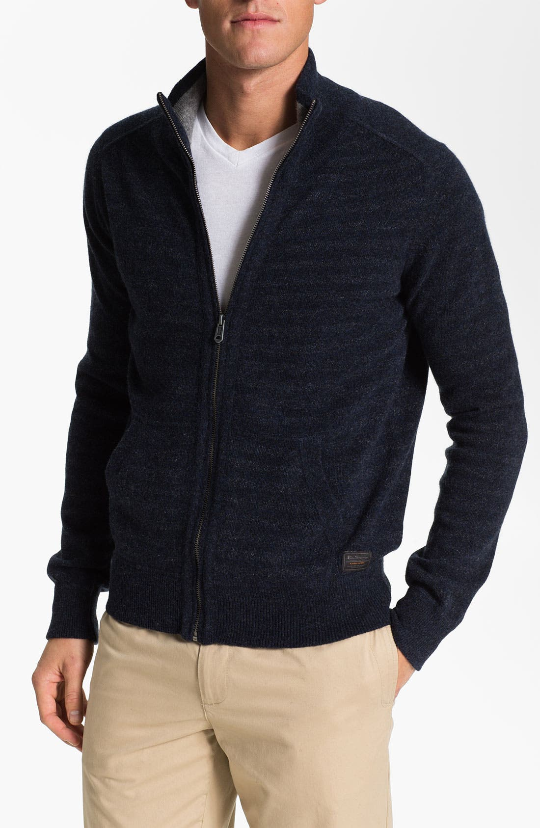 Alternate Image 1 Selected - Ben Sherman Zip Sweater