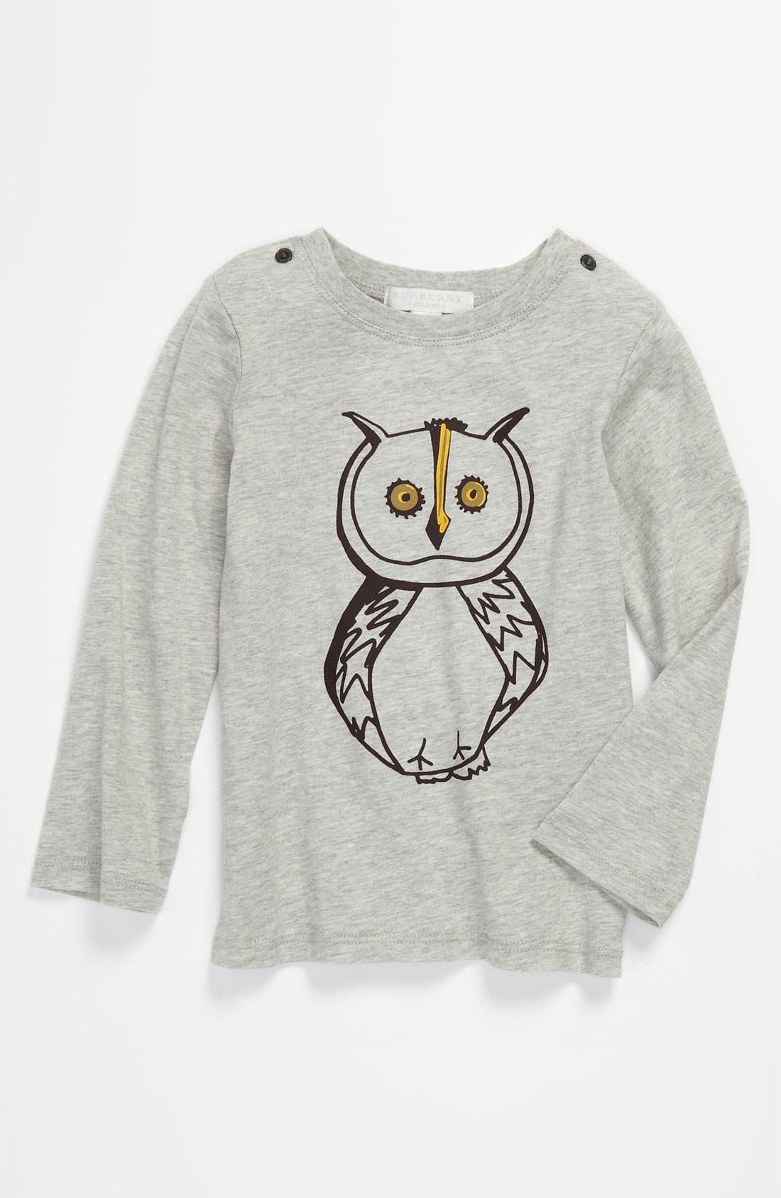 Main Image - Burberry Owl Print Tee (Infant)