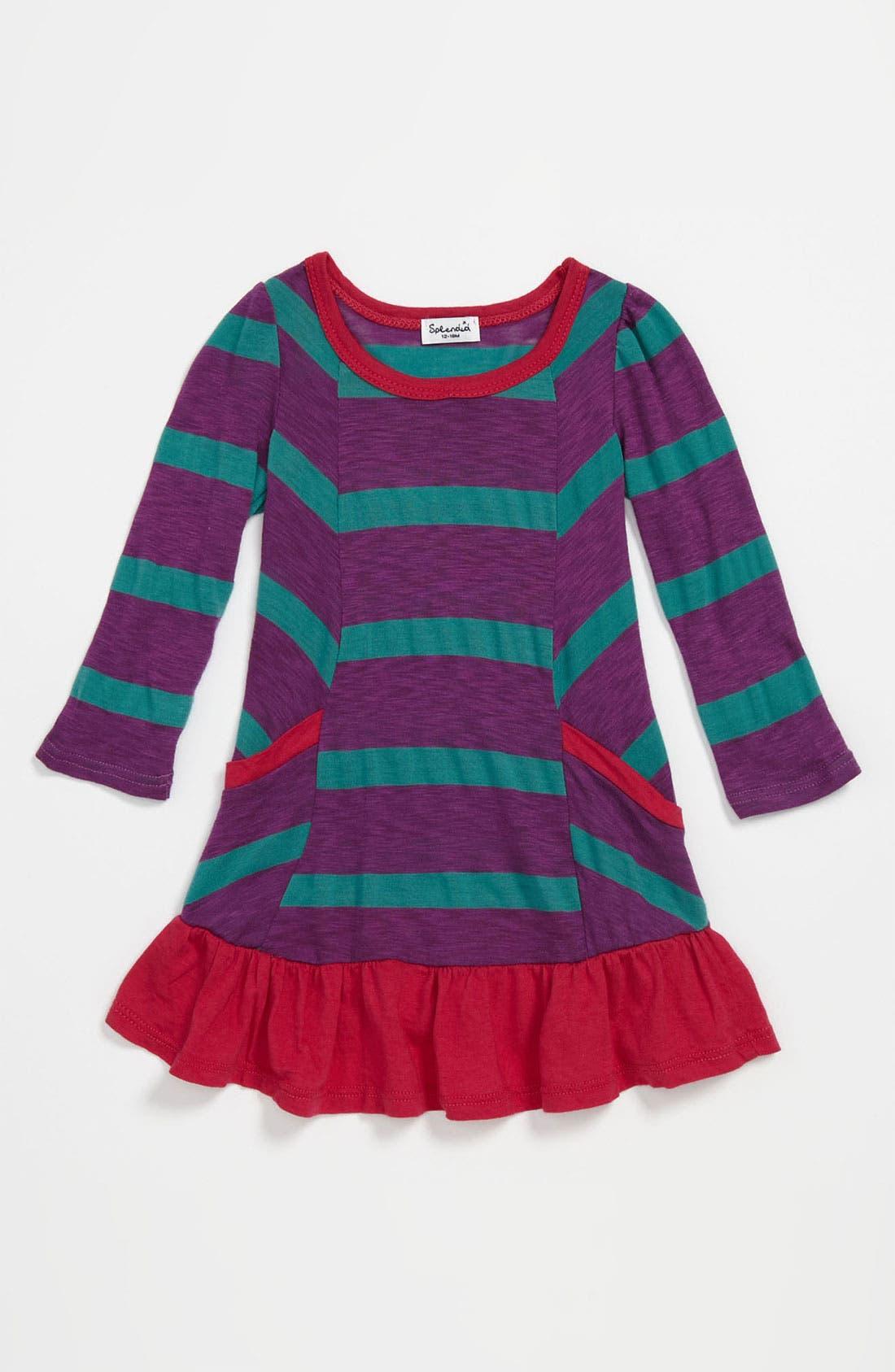 Alternate Image 1 Selected - Splendid 'Seville' Stripe Dress (Infant)