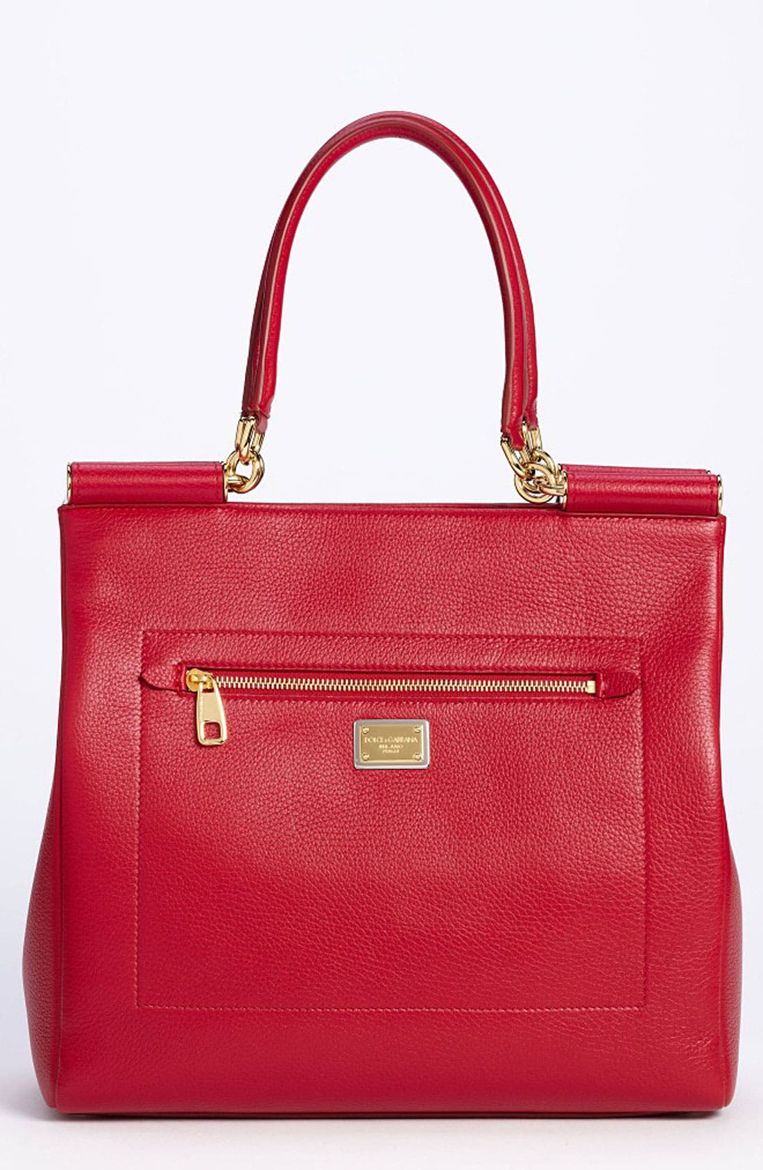 Main Image - Dolce&Gabbana 'Miss Sicily' Leather Shopper