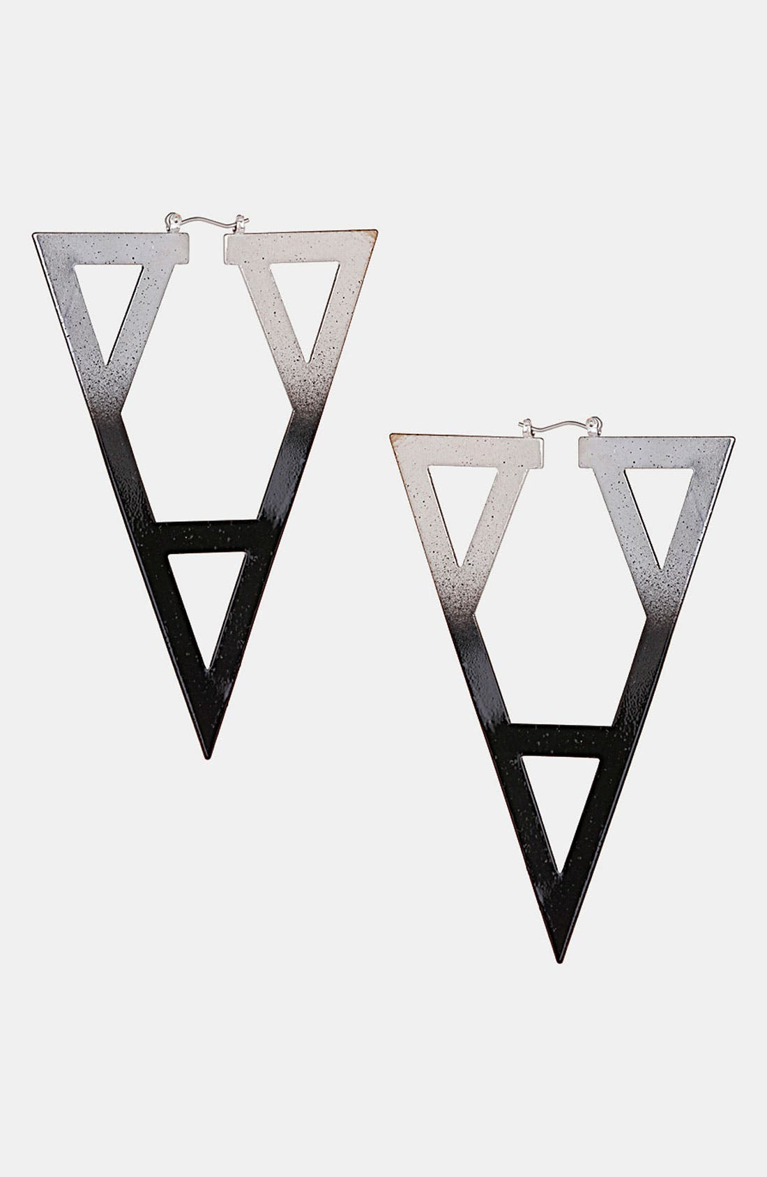 Main Image - Topshop 'Ombré Geo' Cutout Earrings