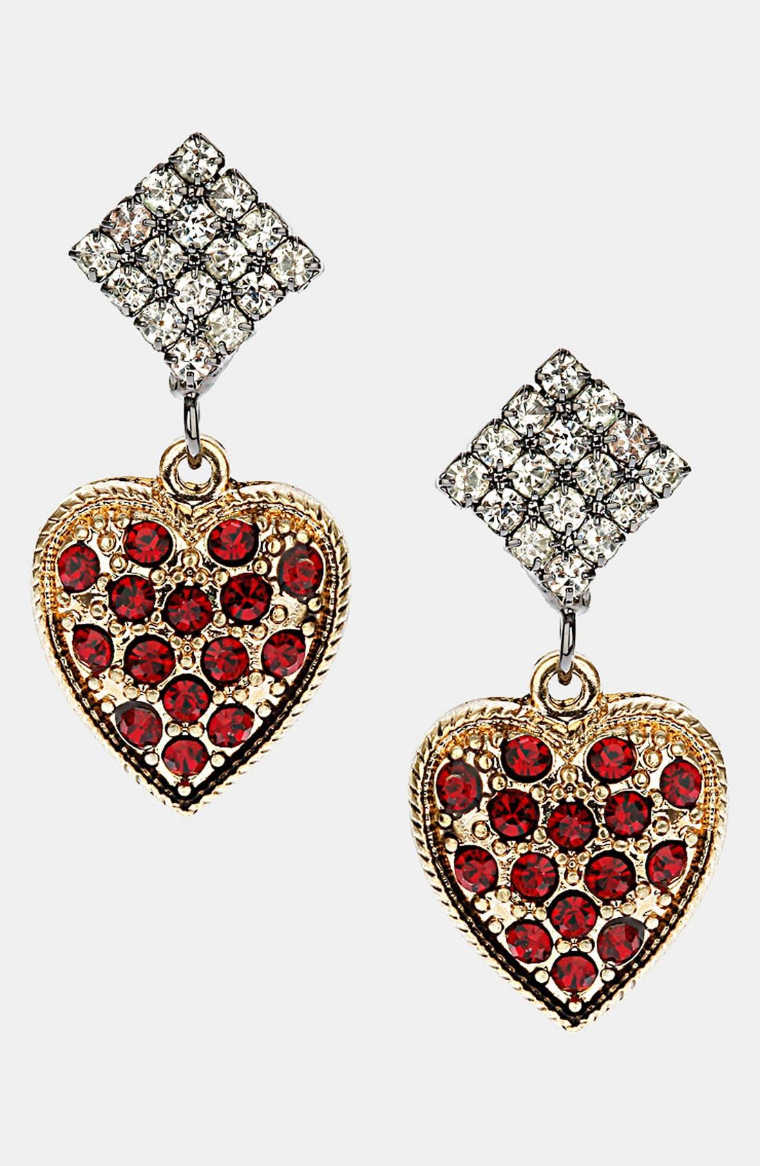 Alternate Image 1 Selected - Topshop Heart Earrings