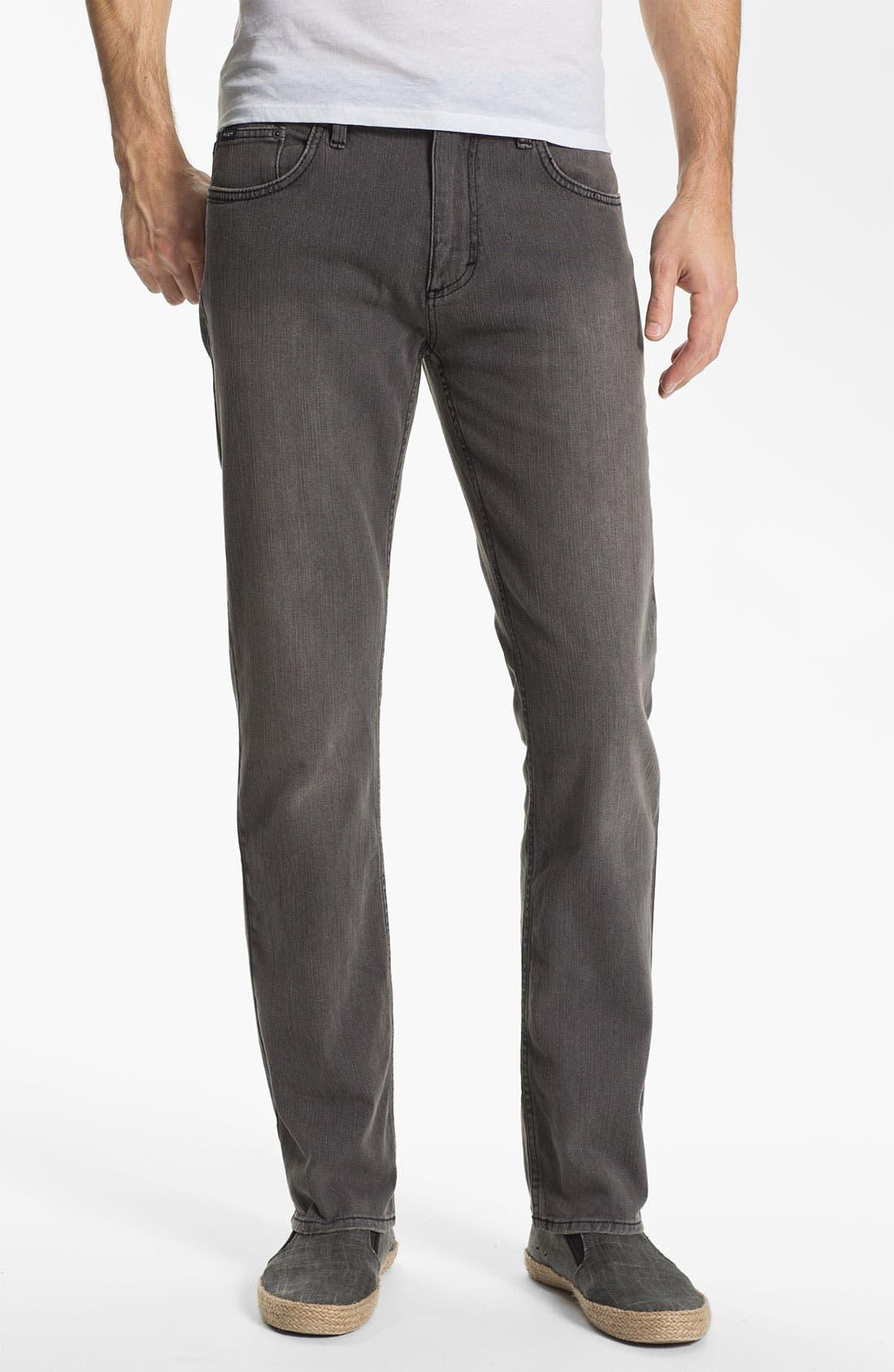 Alternate Image 2  - RVCA Slim Straight Leg Jeans (Grey Wolf)
