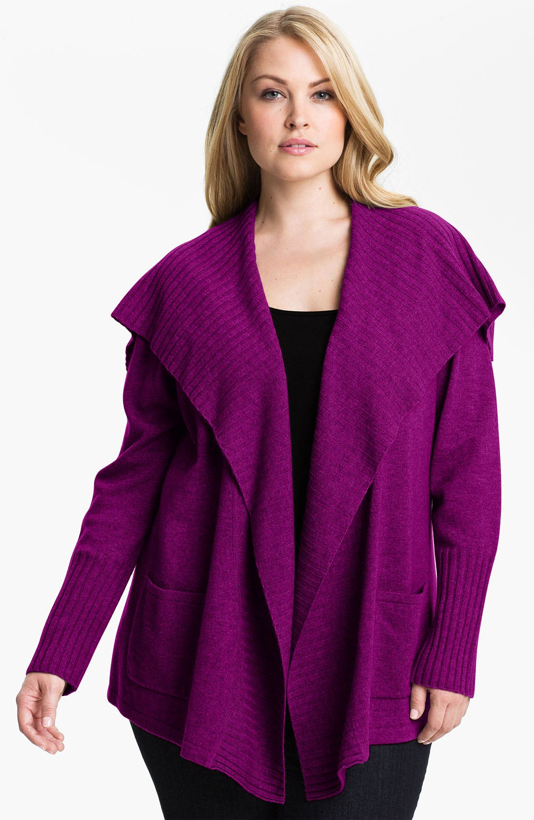 Alternate Image 1 Selected - Only Mine Flyaway Cardigan (Plus)