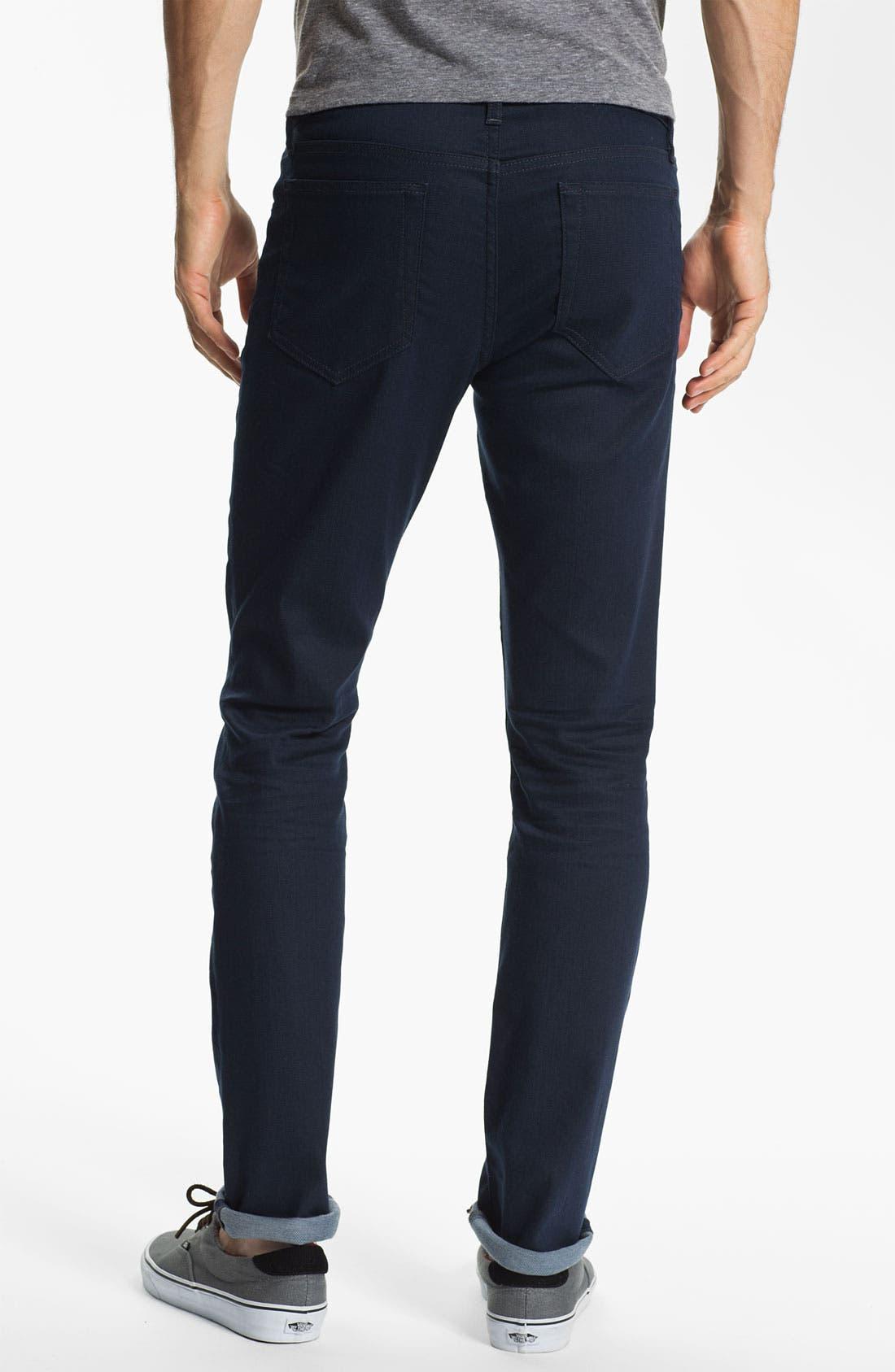 Super Slim Straight Leg Jeans,                         Main,                         color, Teddie