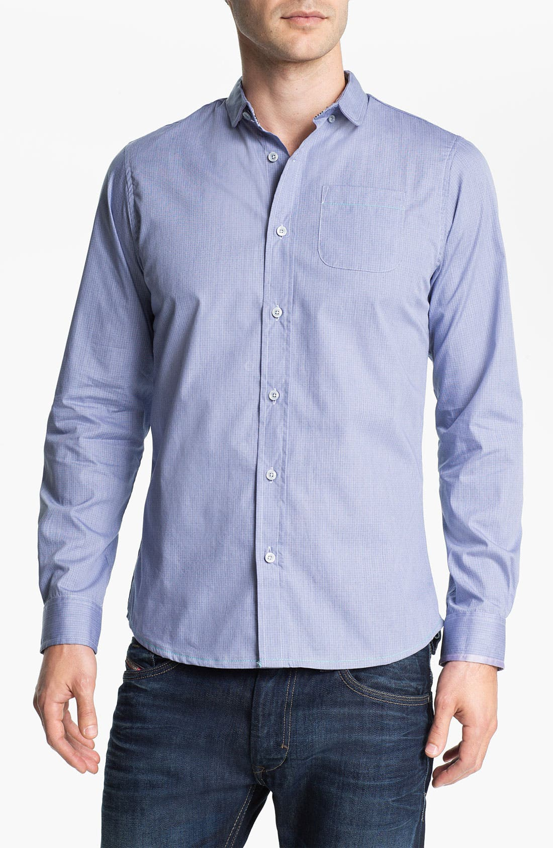 Alternate Image 1 Selected - Descendant of Thieves Check Woven Shirt
