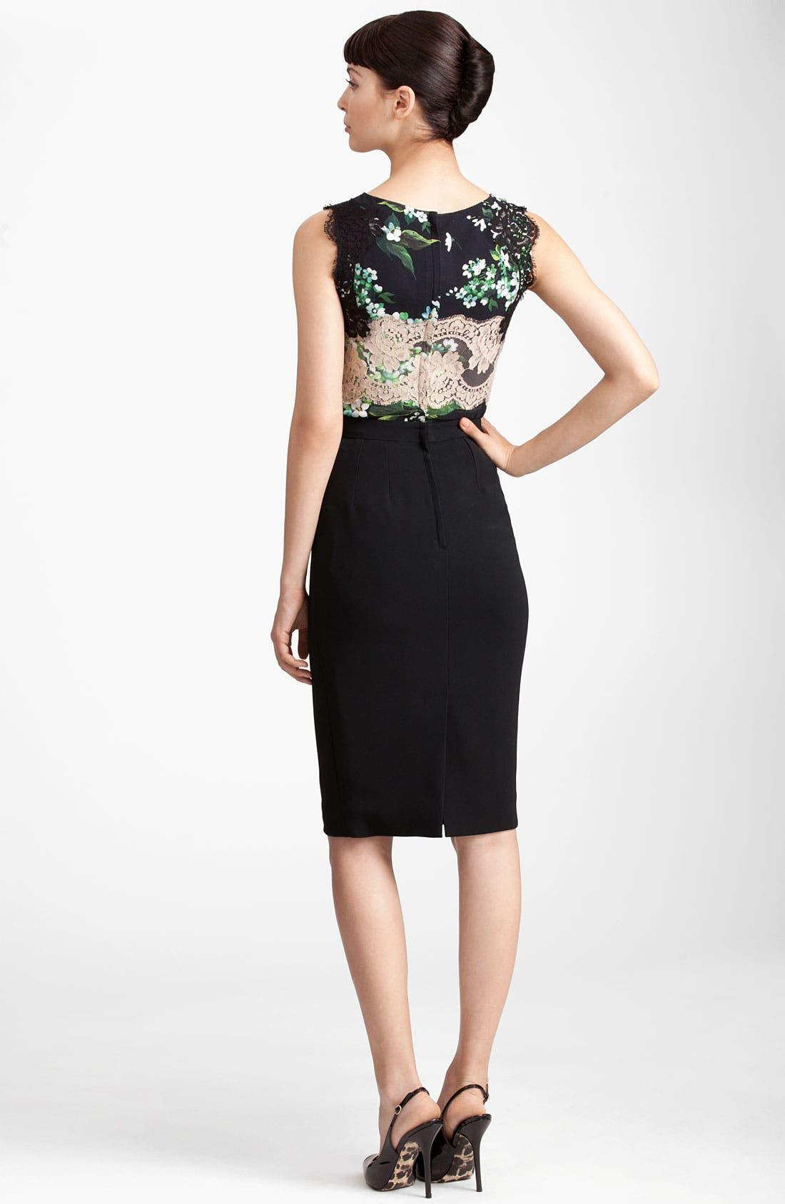 Alternate Image 3  - Dolce&Gabbana Raw Edge Stretch Cady Skirt