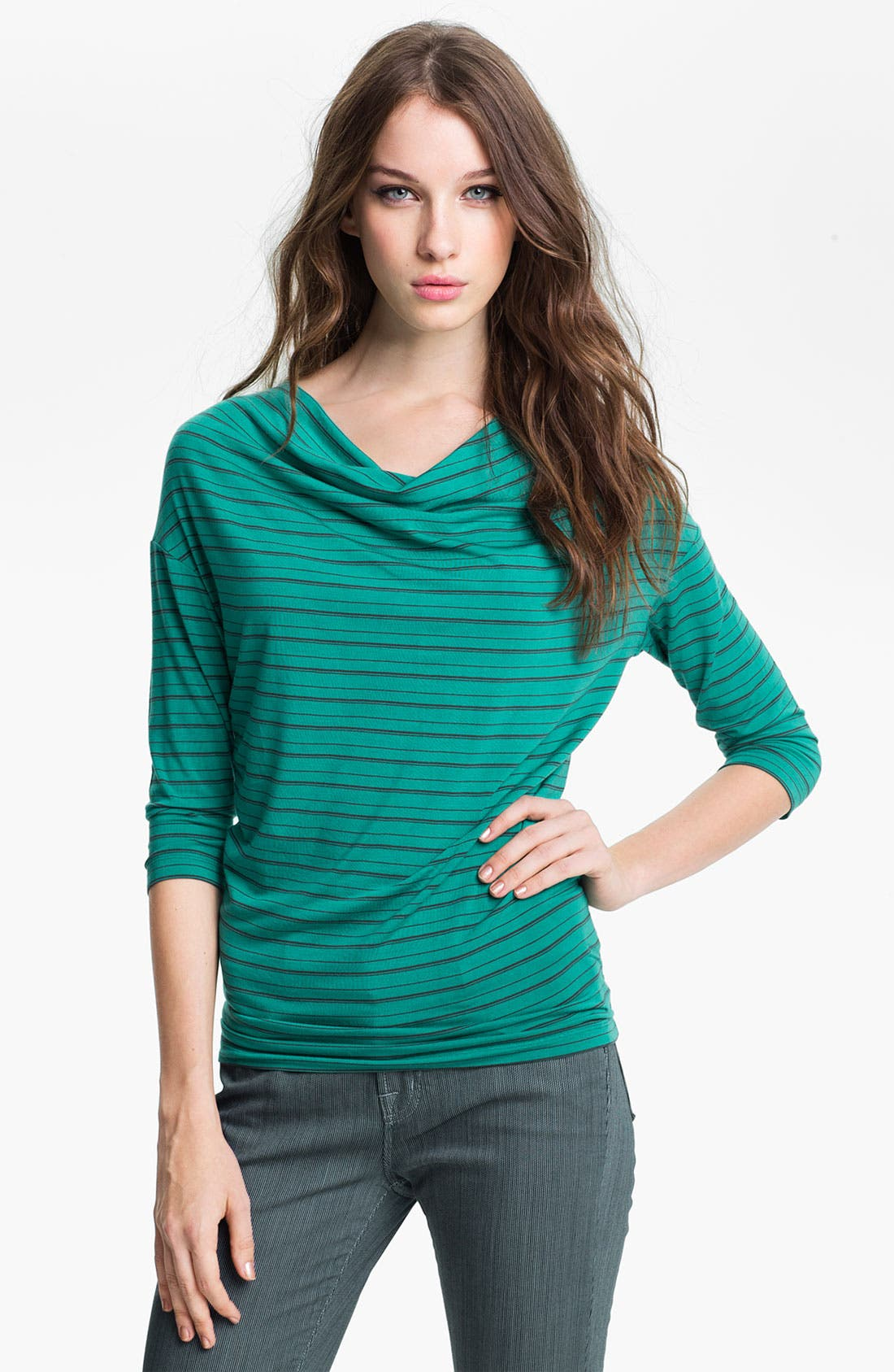 Main Image - Halogen® Stripe Wedge Top