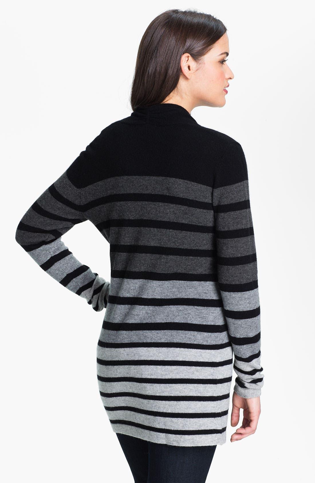 Alternate Image 2  - Saffron Stripe Cashmere Cardigan